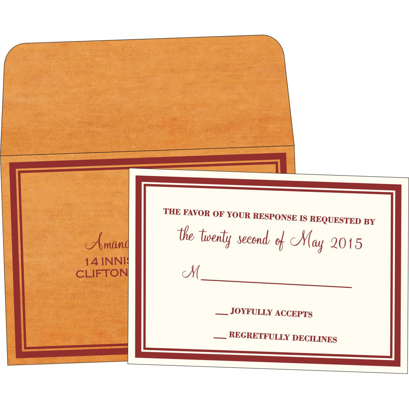 RSVP Cards : CRSVP-8204B - IndianWeddingCards