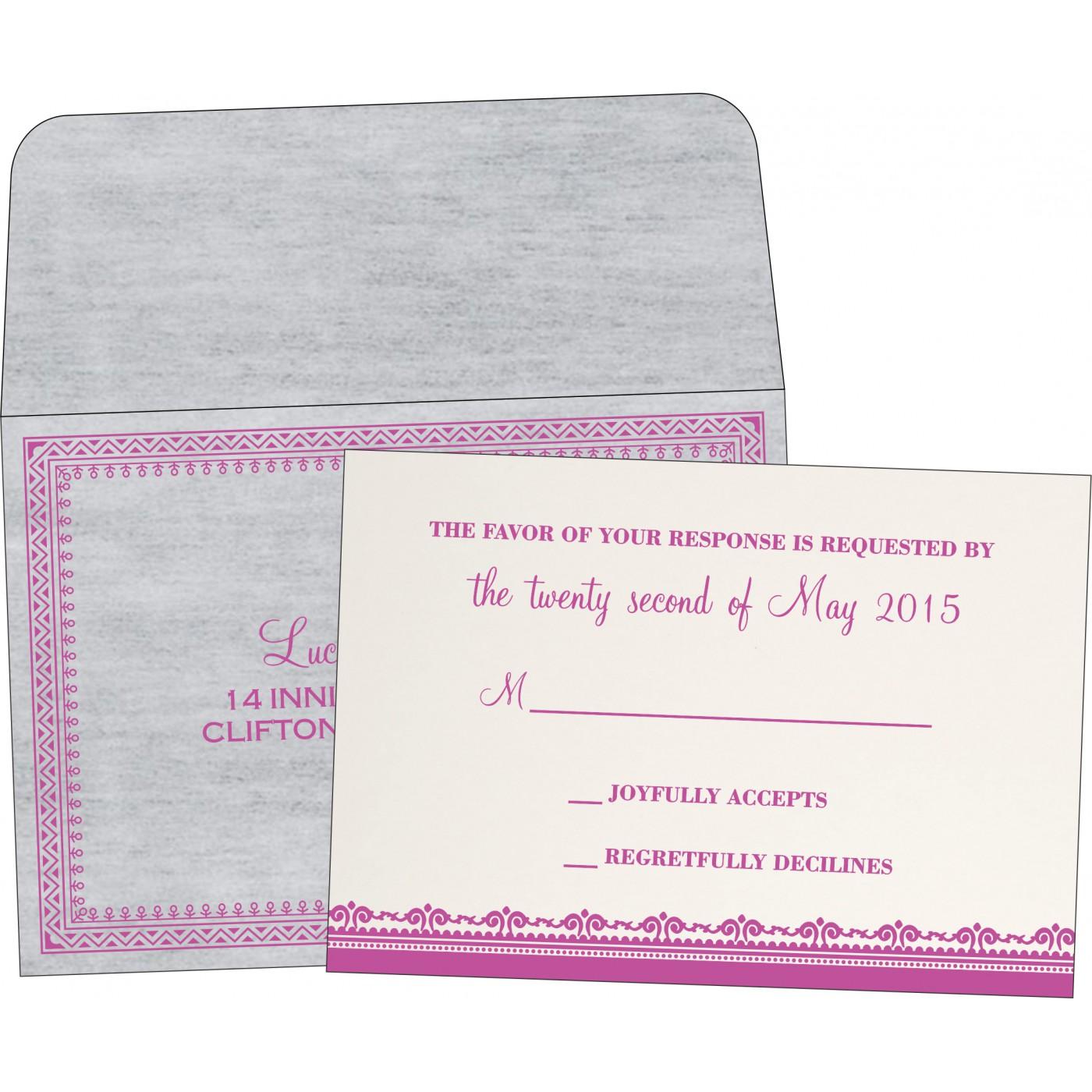 RSVP Cards : CRSVP-8205A - IndianWeddingCards