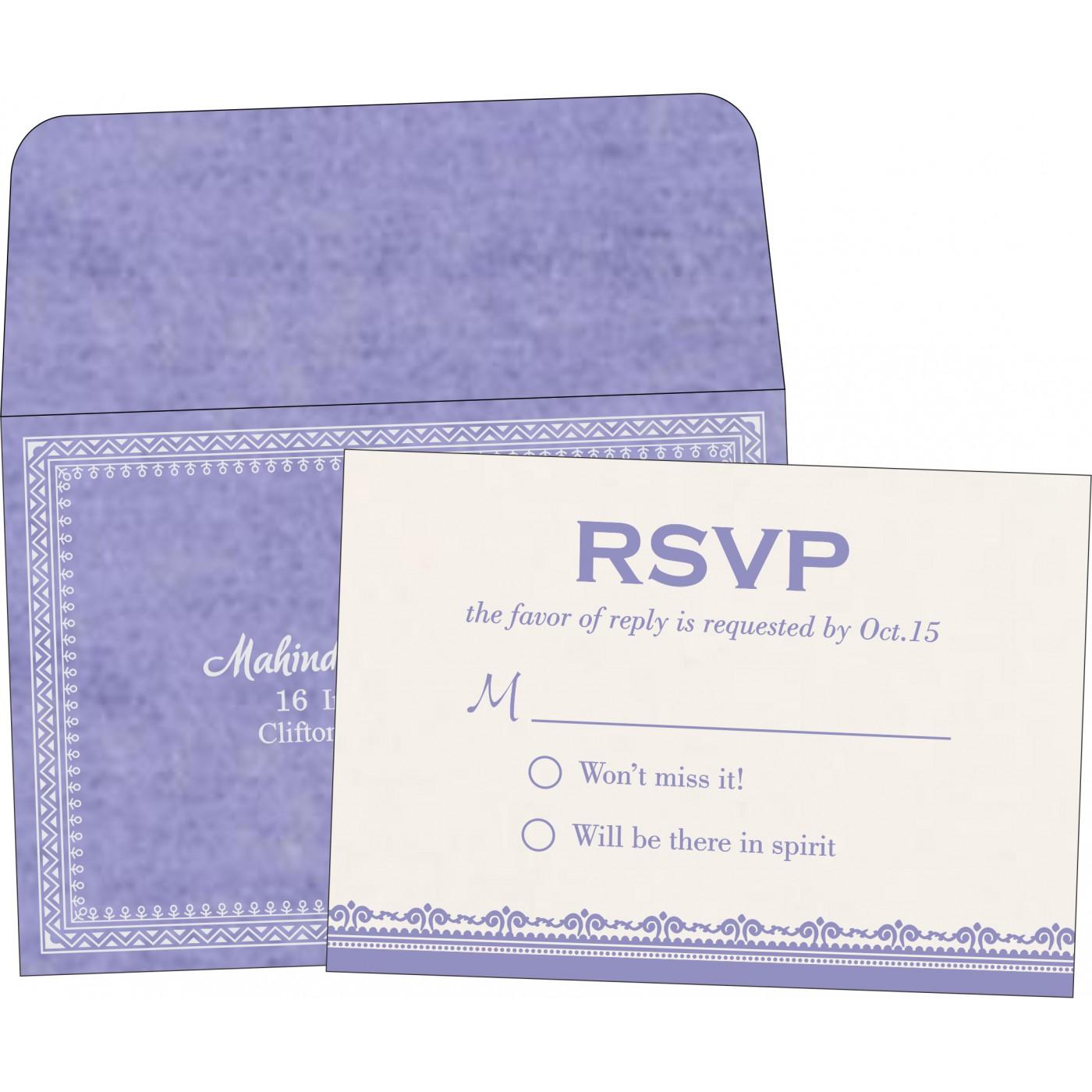 RSVP Cards : CRSVP-8205F - IndianWeddingCards