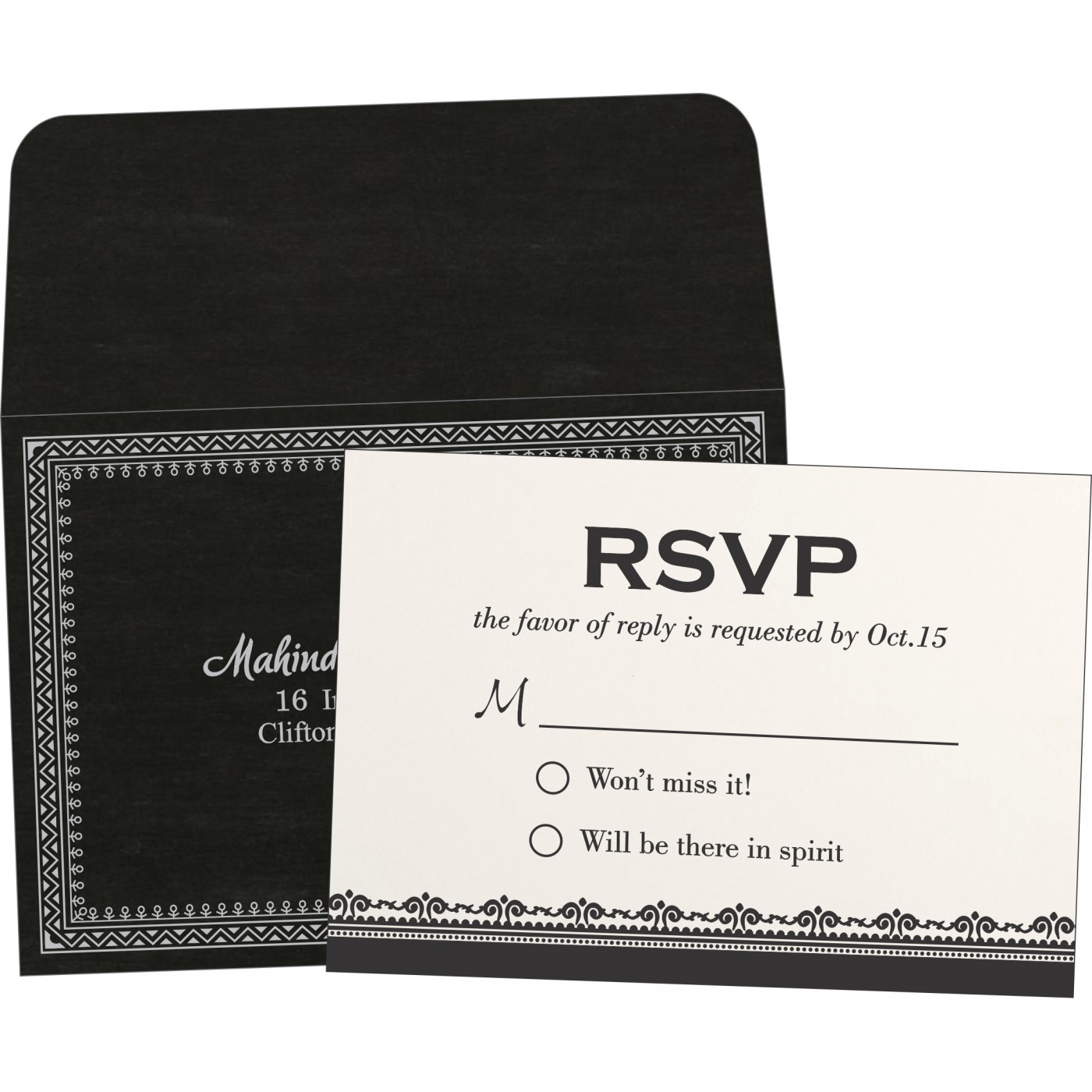 RSVP Cards : CRSVP-8205L - IndianWeddingCards