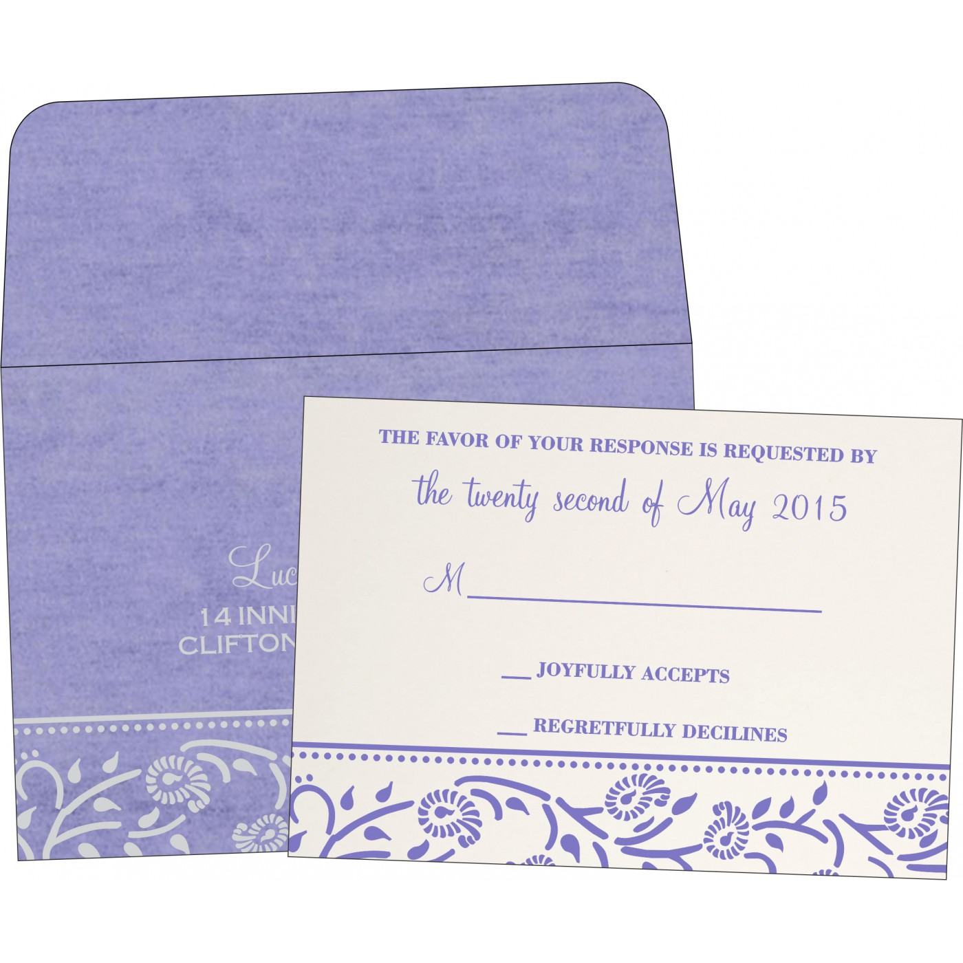 RSVP Cards : CRSVP-8206A - IndianWeddingCards