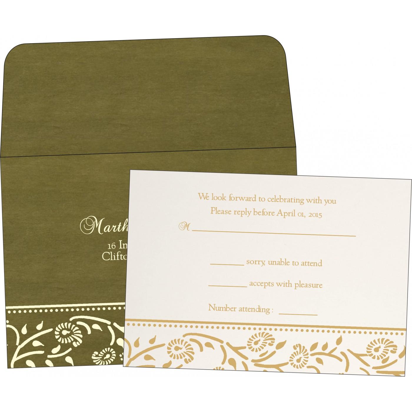 RSVP Cards : CRSVP-8206D - IndianWeddingCards