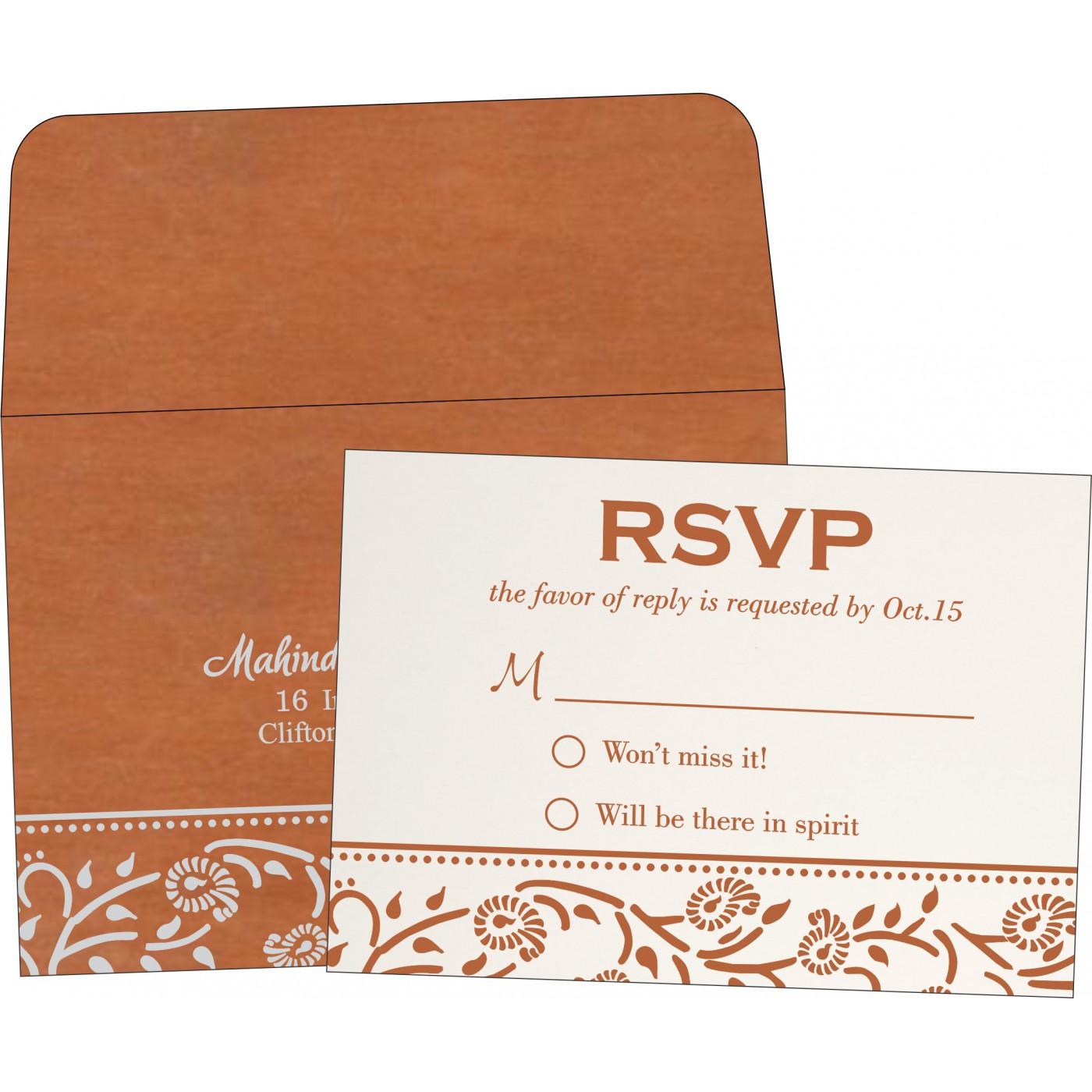 RSVP Cards : CRSVP-8206G - IndianWeddingCards