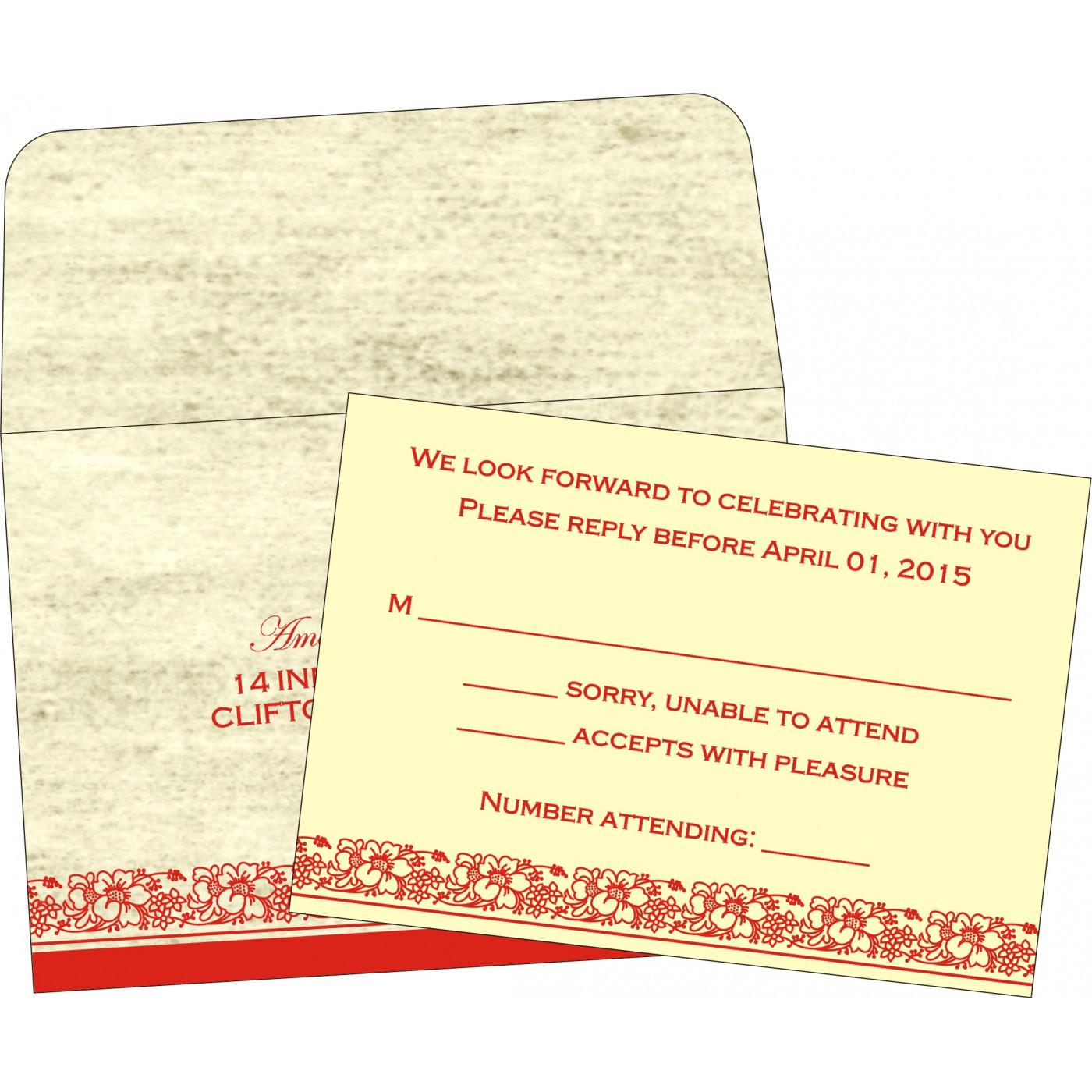 RSVP Cards : CRSVP-8207A - IndianWeddingCards