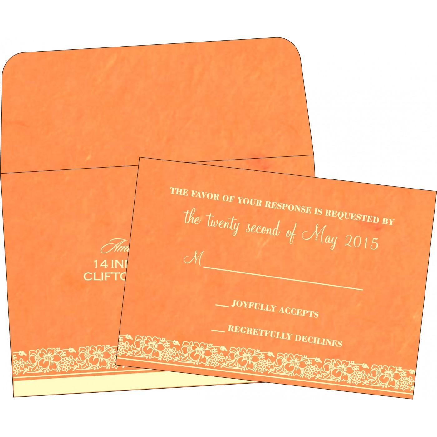 RSVP Cards : CRSVP-8207B - IndianWeddingCards