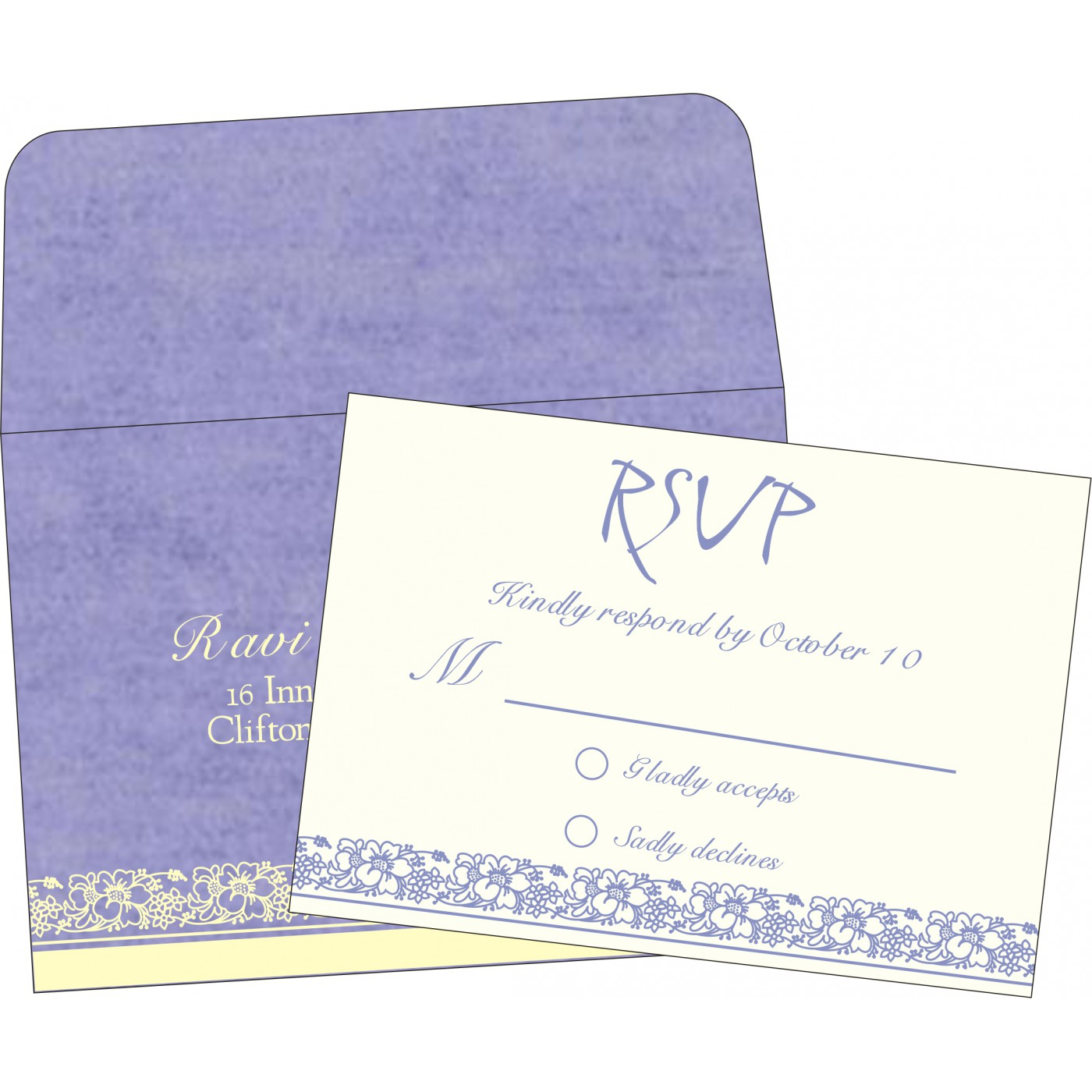 RSVP Cards : CRSVP-8207D - IndianWeddingCards