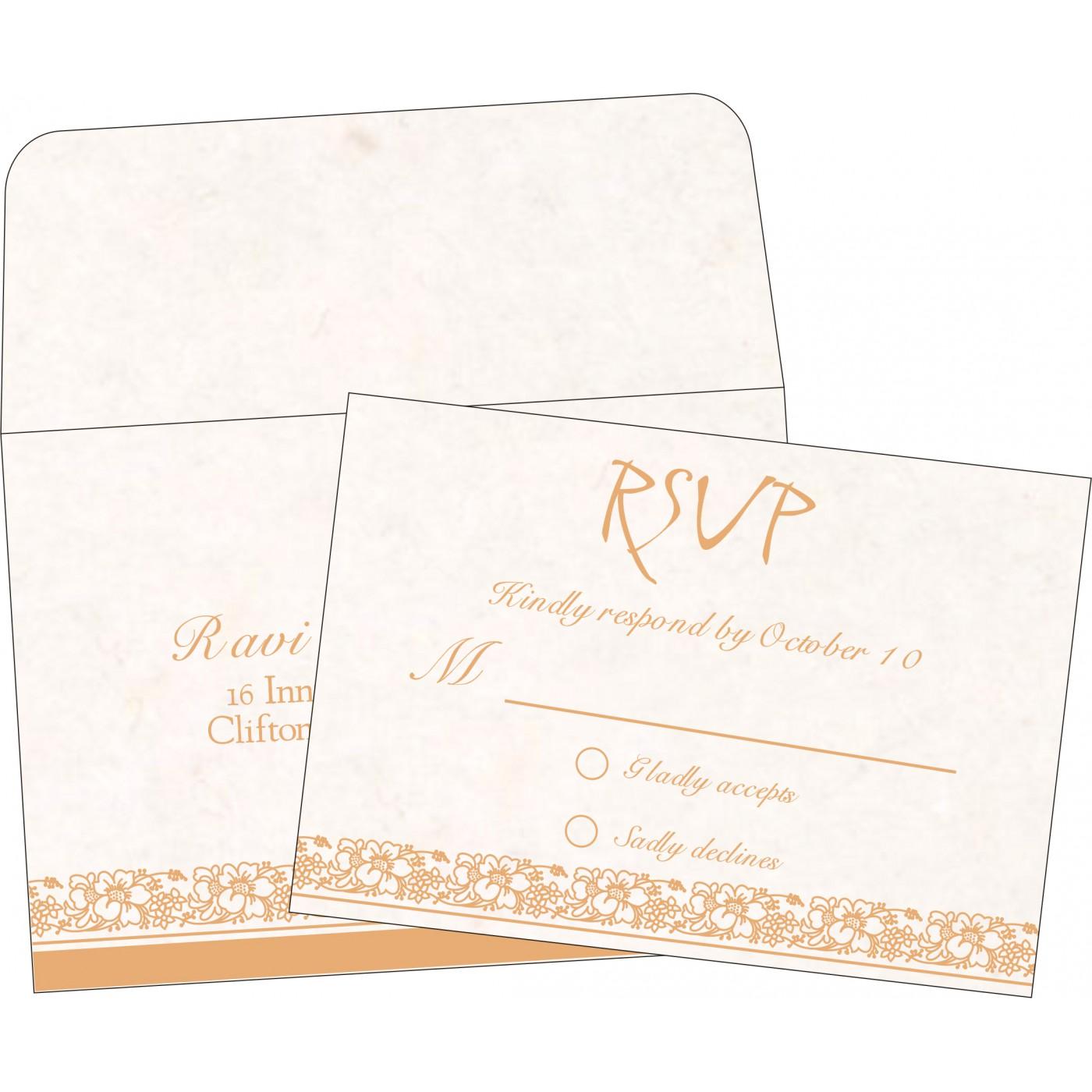 RSVP Cards : CRSVP-8207I - IndianWeddingCards