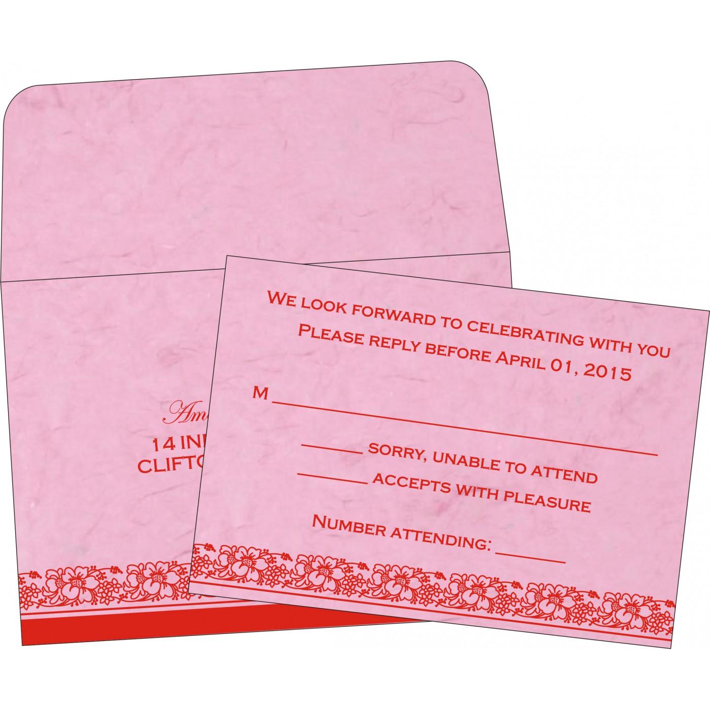 RSVP Cards : CRSVP-8207K - IndianWeddingCards