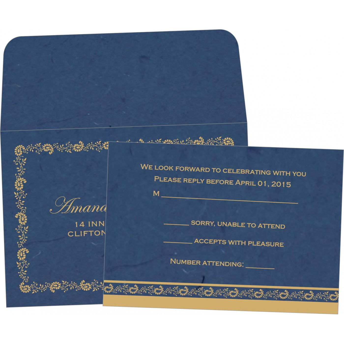 RSVP Cards : CRSVP-8208B - IndianWeddingCards