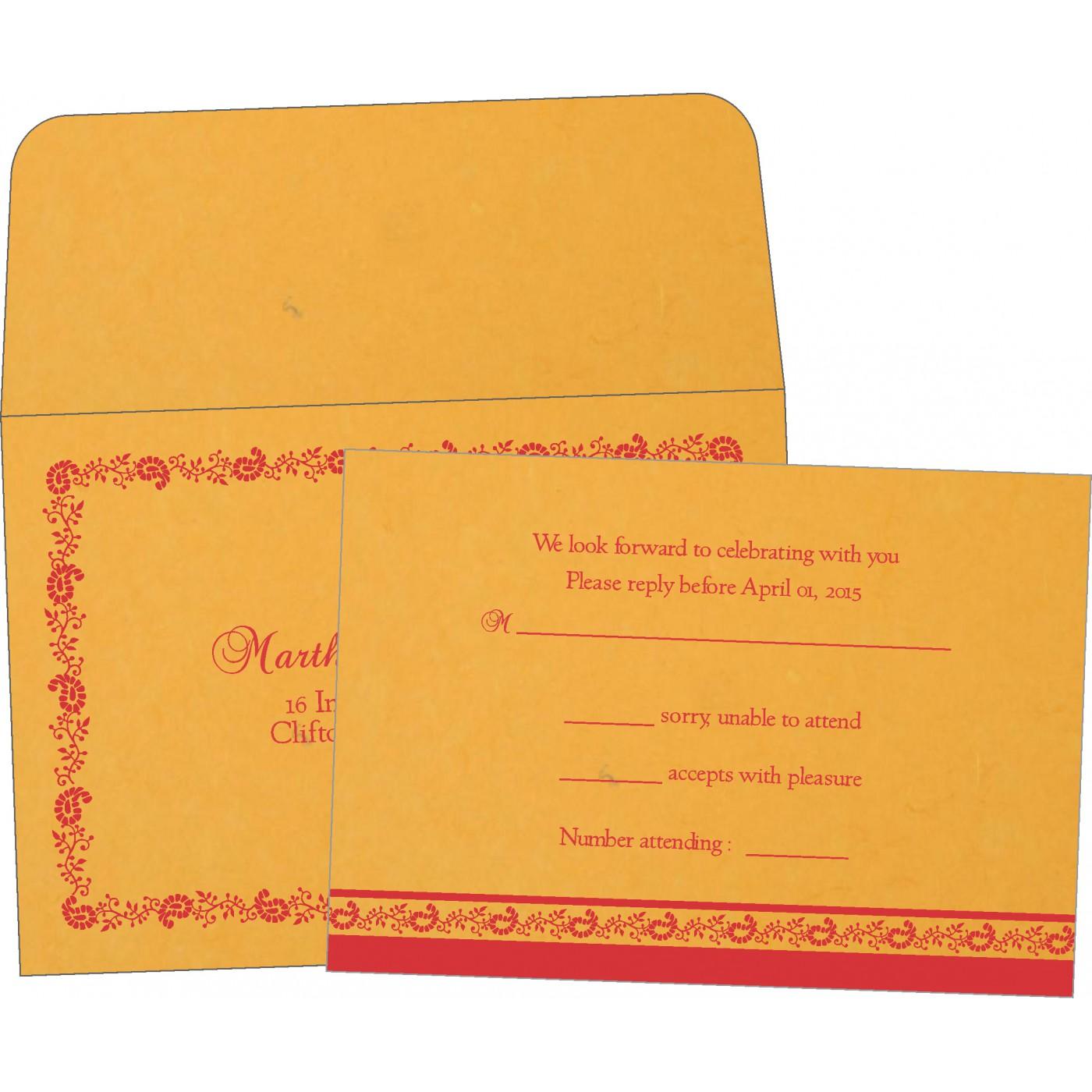 RSVP Cards : CRSVP-8208C - IndianWeddingCards