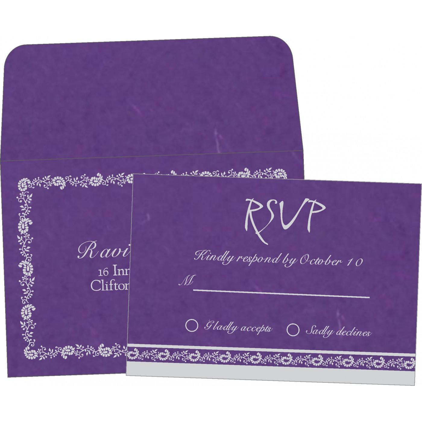 RSVP Cards : CRSVP-8208D - IndianWeddingCards