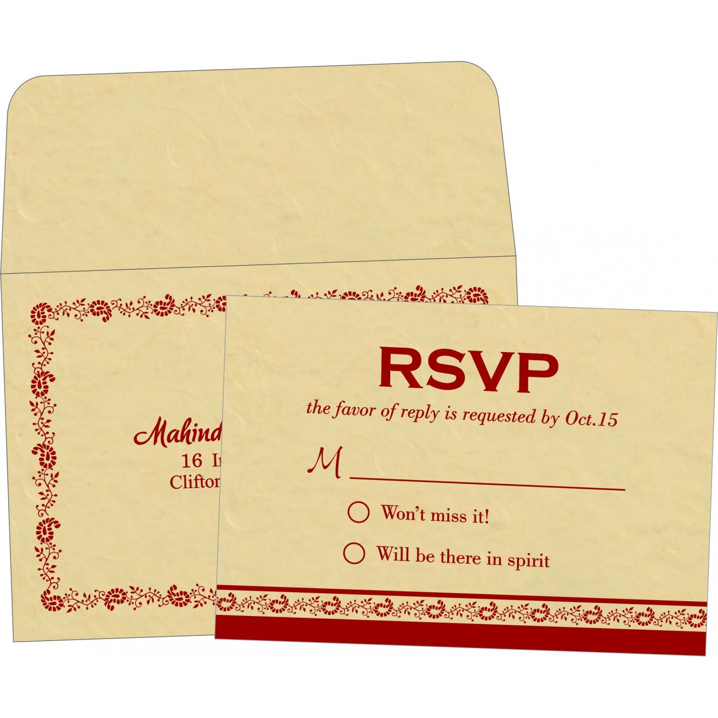 RSVP Cards : CRSVP-8208E - IndianWeddingCards
