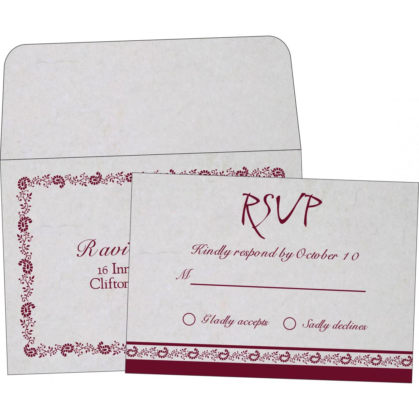 RSVP Cards : CRSVP-8208I - IndianWeddingCards