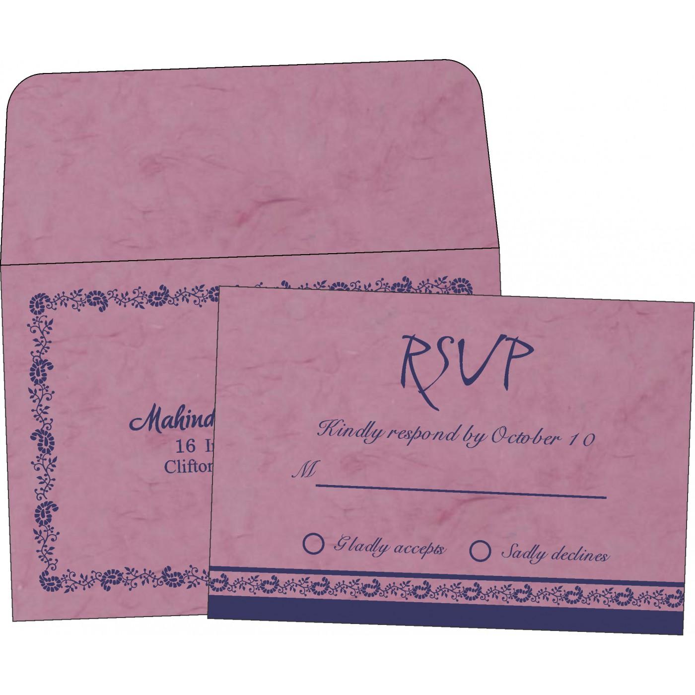 RSVP Cards : CRSVP-8208J - IndianWeddingCards