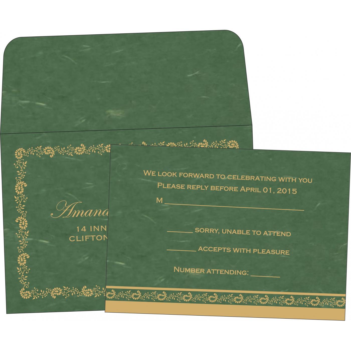 RSVP Cards : CRSVP-8208L - IndianWeddingCards