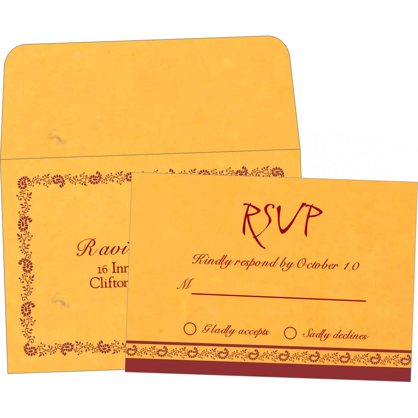 RSVP Cards : CRSVP-8208N - IndianWeddingCards