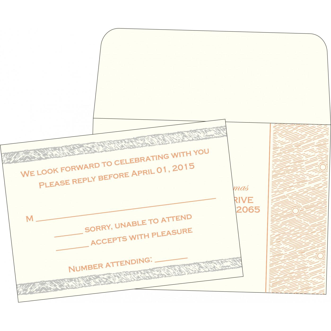 RSVP Cards : CRSVP-8209A - IndianWeddingCards