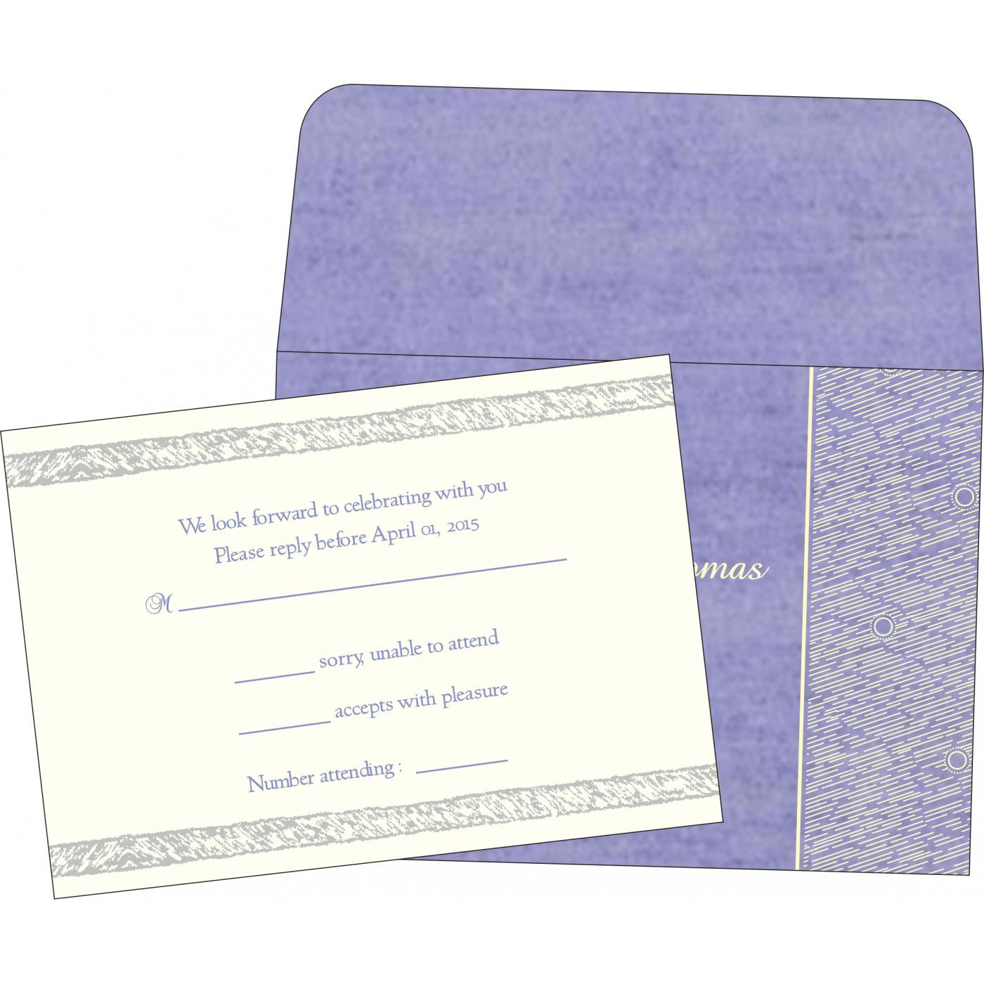 RSVP Cards : CRSVP-8209C - IndianWeddingCards