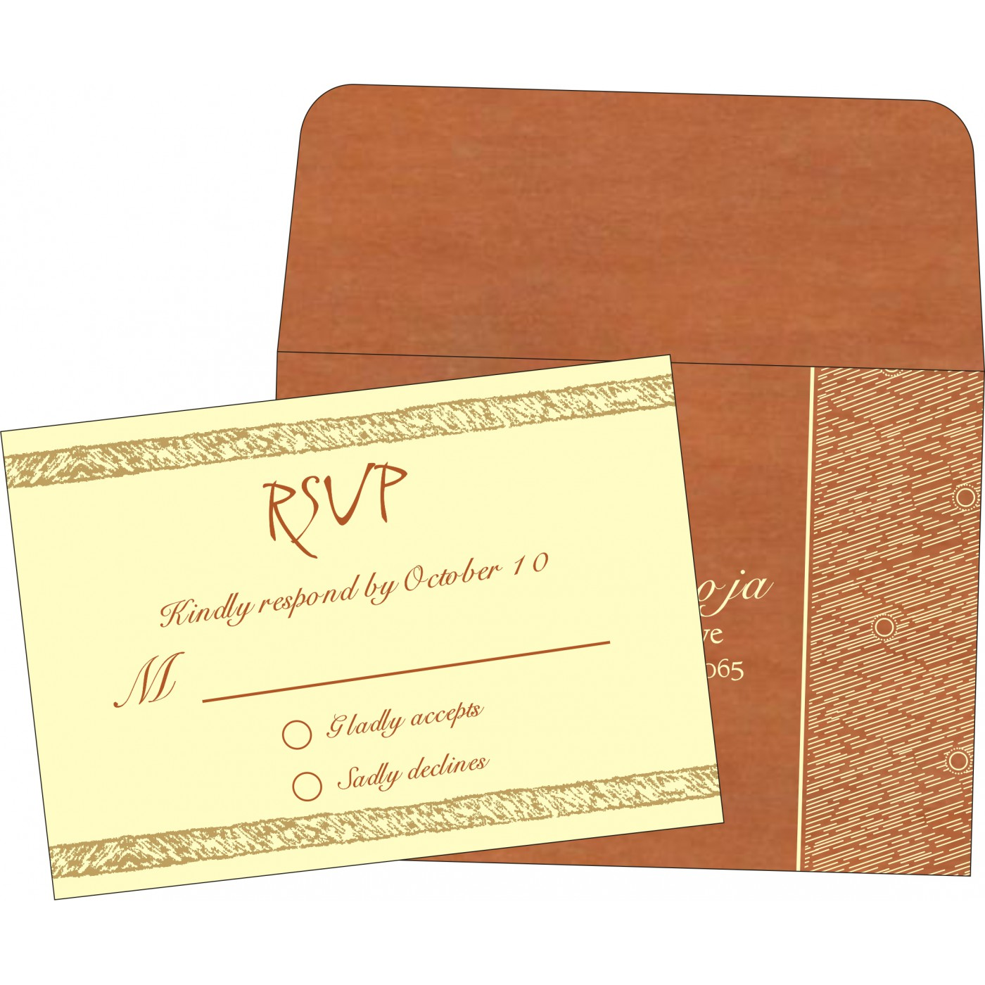 RSVP Cards : CRSVP-8209D - IndianWeddingCards