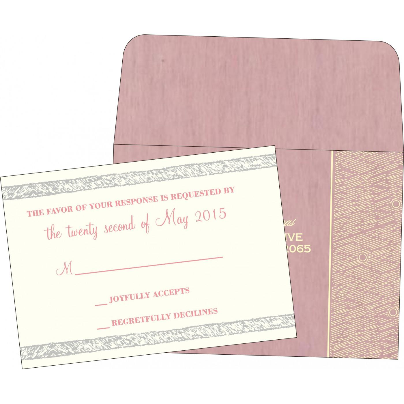 RSVP Cards : CRSVP-8209H - IndianWeddingCards