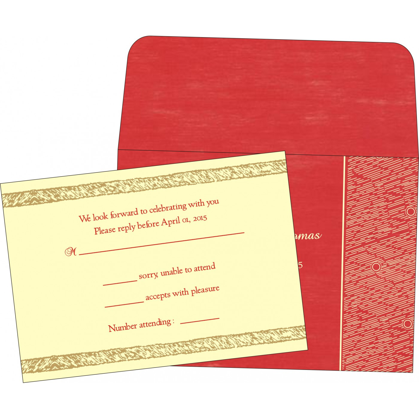 RSVP Cards : CRSVP-8209I - IndianWeddingCards