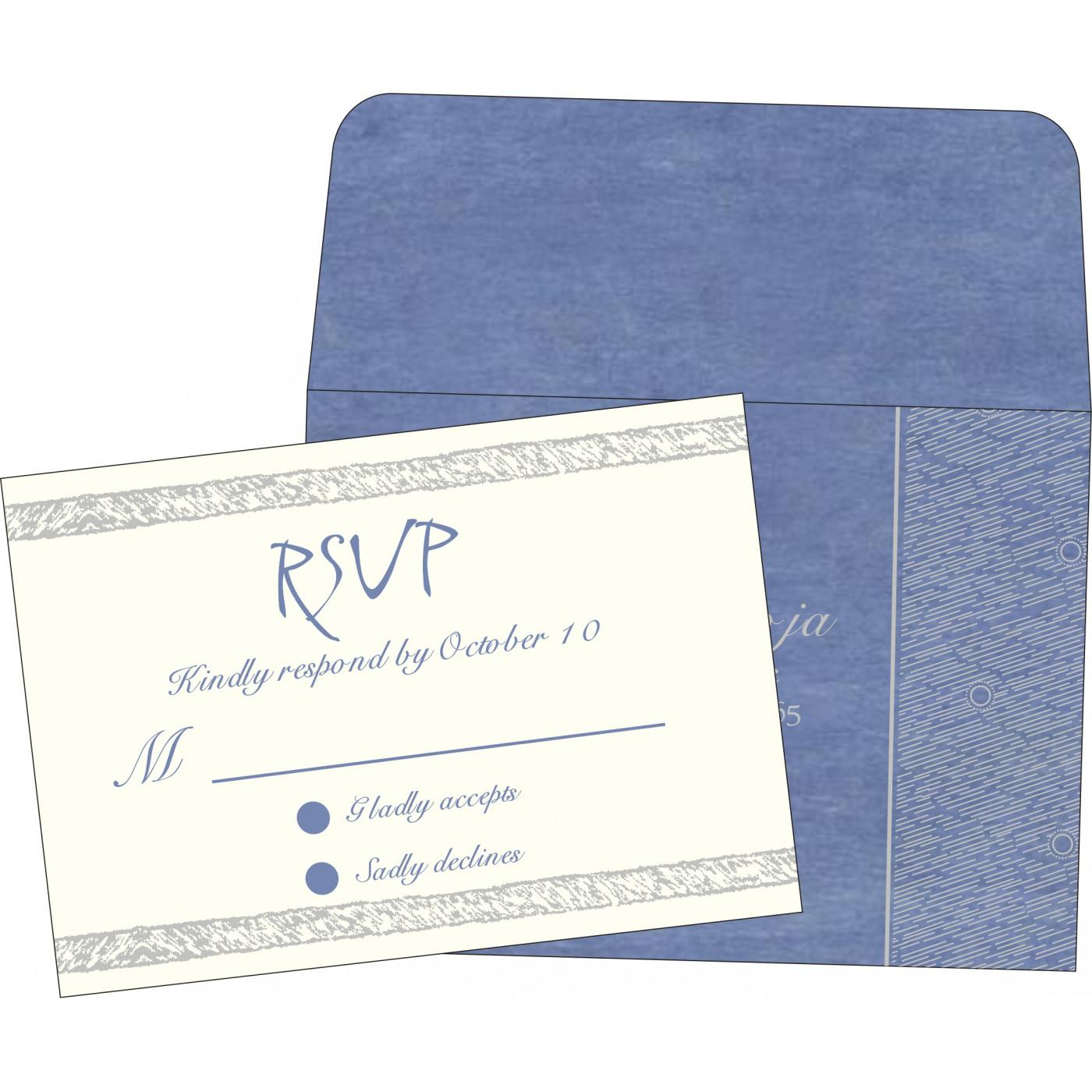 RSVP Cards : CRSVP-8209J - IndianWeddingCards