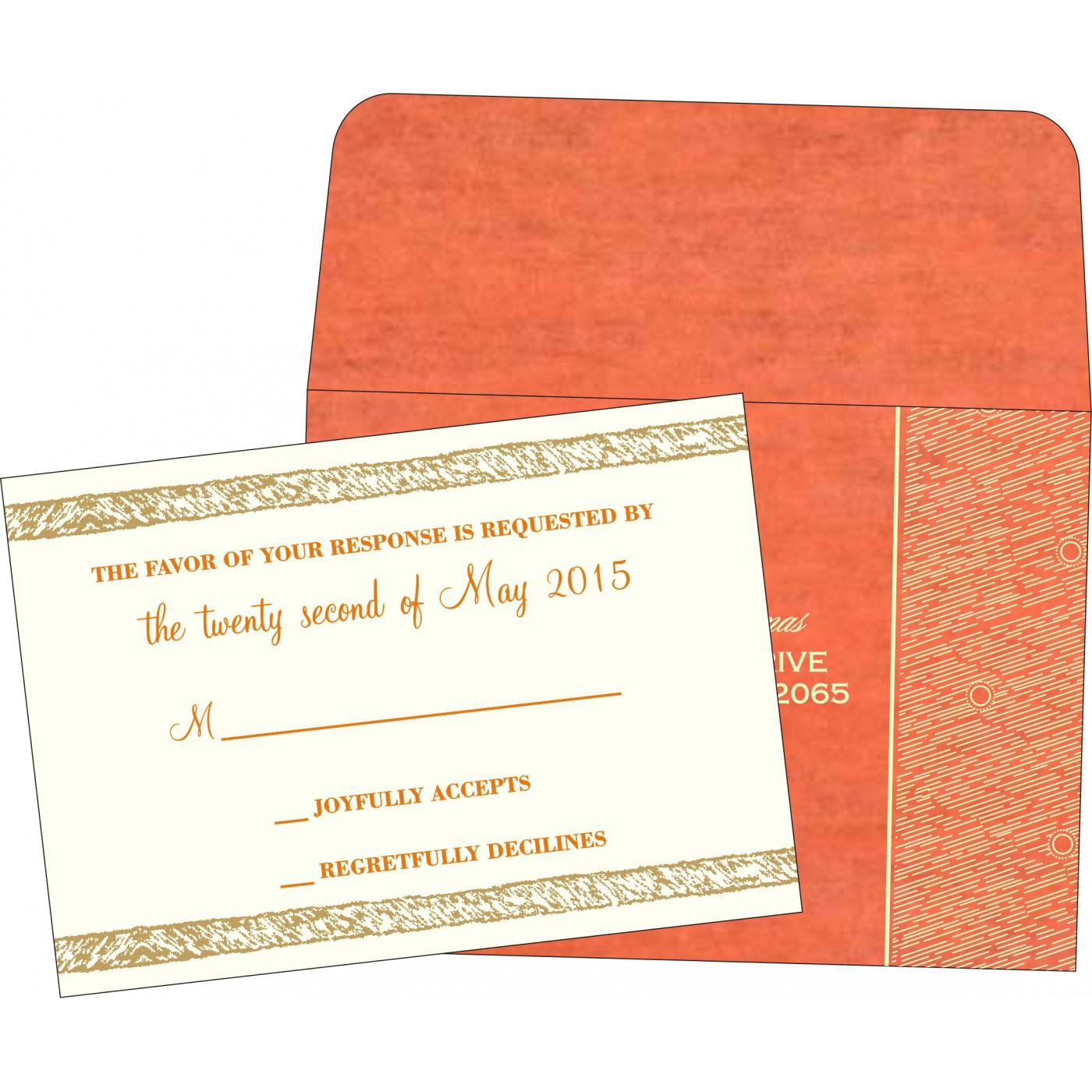 RSVP Cards : CRSVP-8209M - IndianWeddingCards