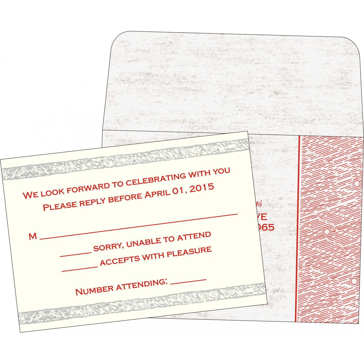 RSVP Cards : CRSVP-8209N - IndianWeddingCards