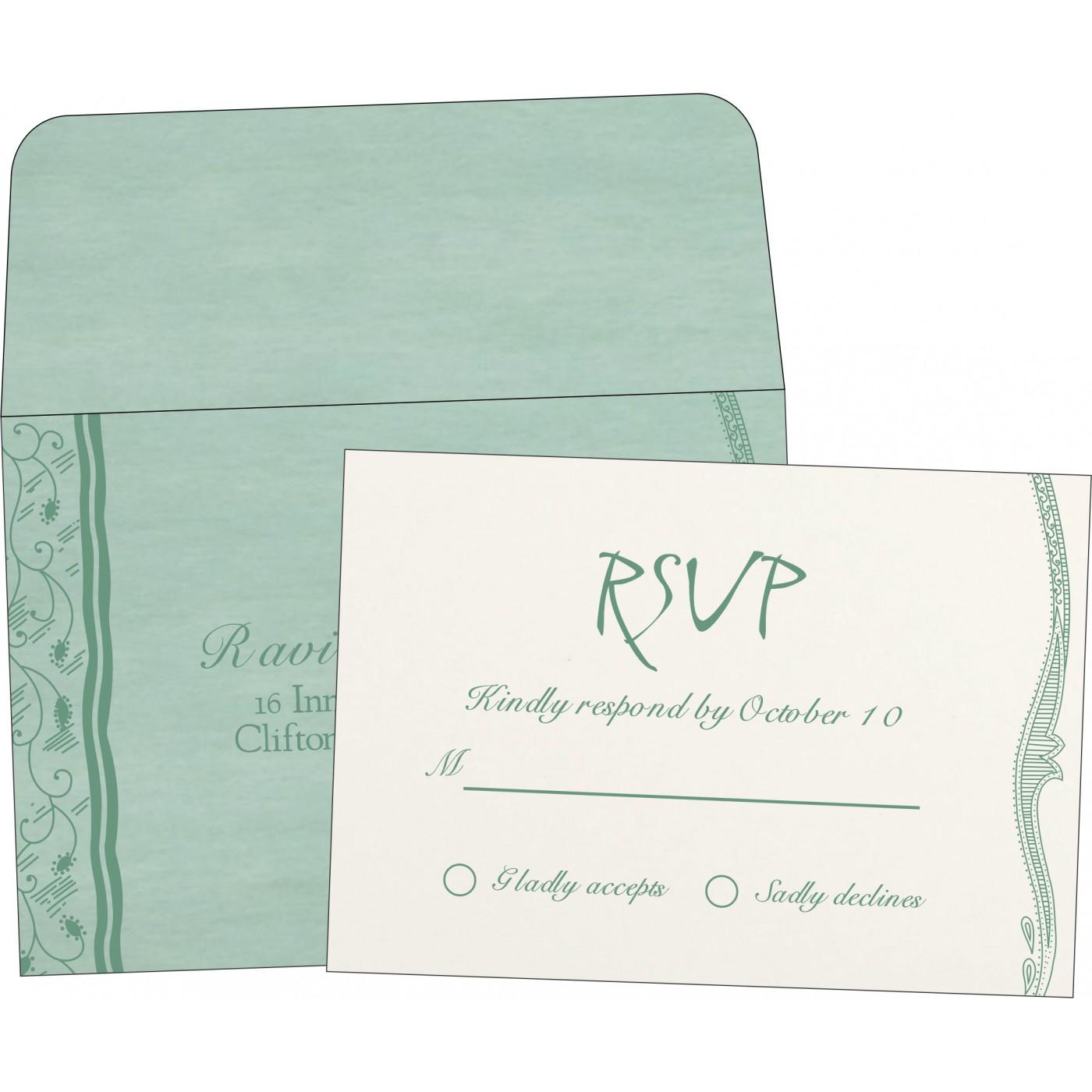 RSVP Cards : CRSVP-8210E - IndianWeddingCards