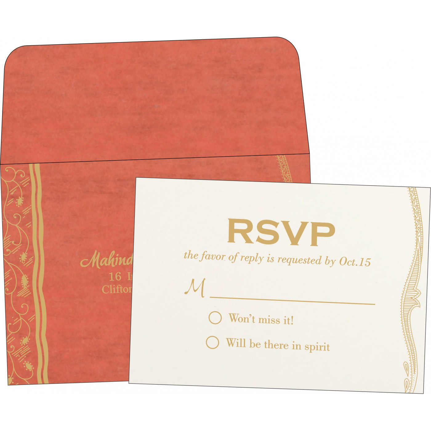 RSVP Cards : CRSVP-8210F - IndianWeddingCards