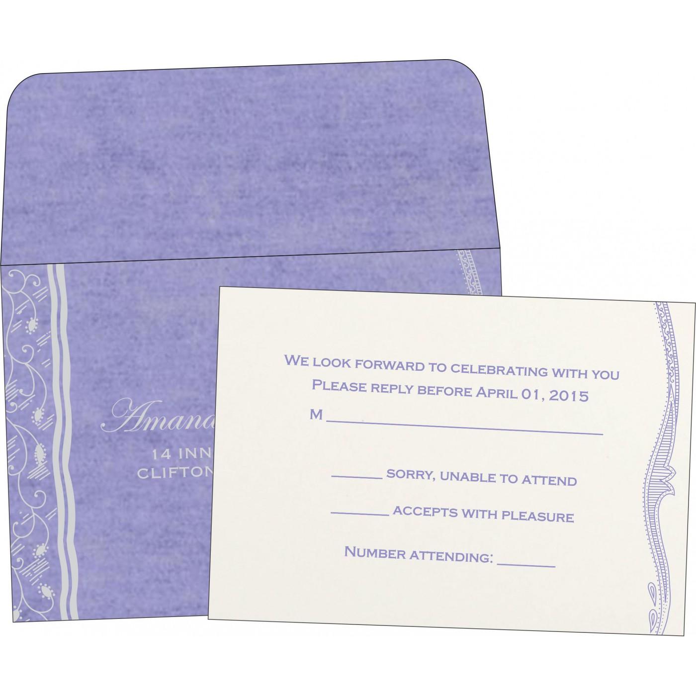 RSVP Cards : CRSVP-8210N - IndianWeddingCards