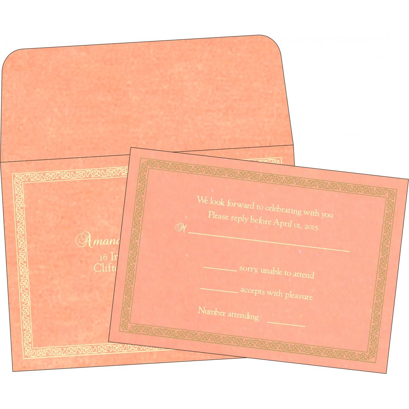 RSVP Cards : CRSVP-8211J - IndianWeddingCards