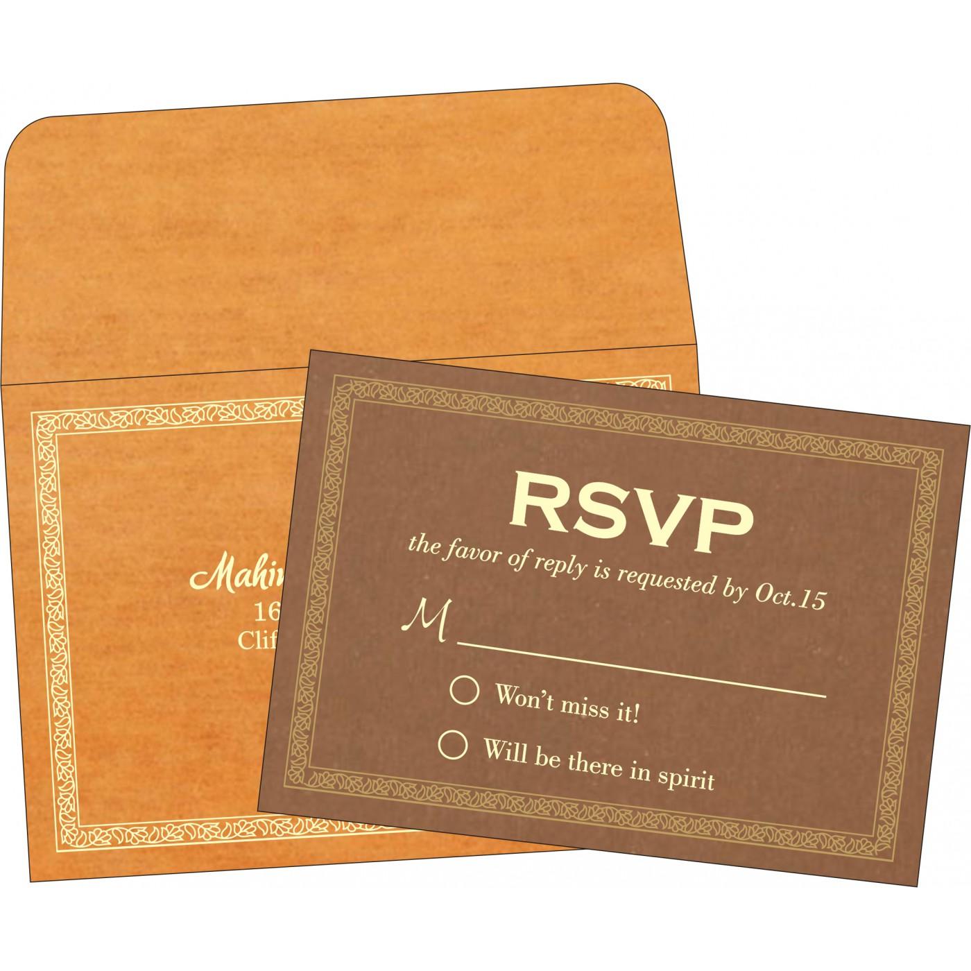 RSVP Cards : CRSVP-8211L - IndianWeddingCards