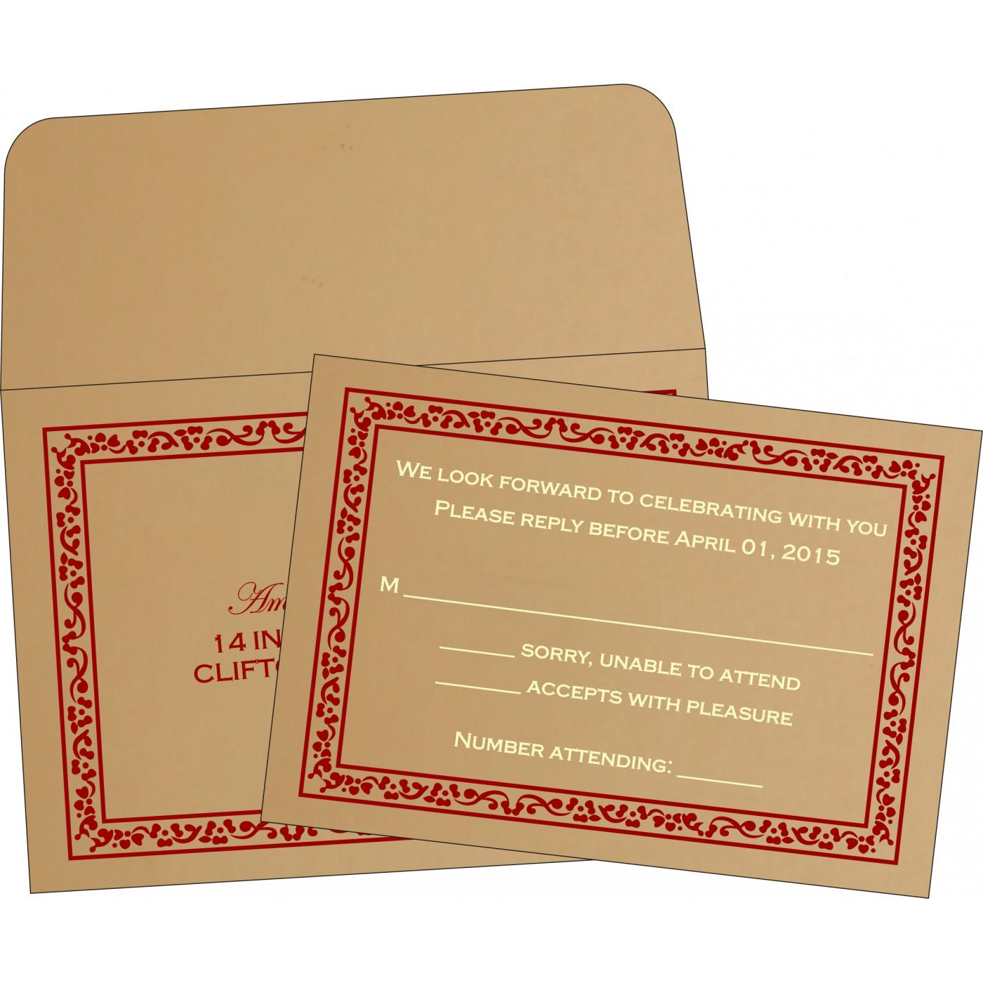 RSVP Cards : CRSVP-8214A - IndianWeddingCards