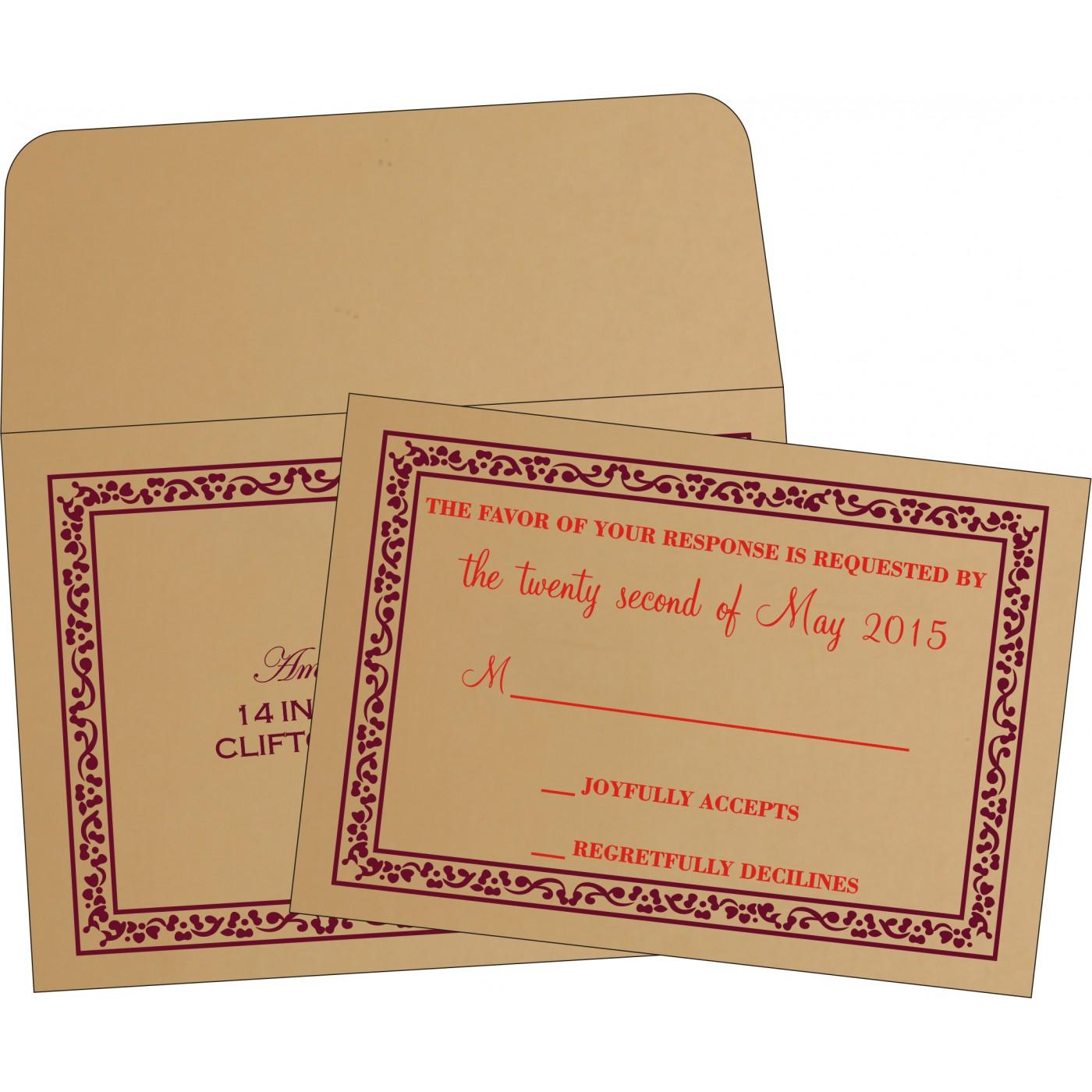 RSVP Cards : CRSVP-8214C - IndianWeddingCards