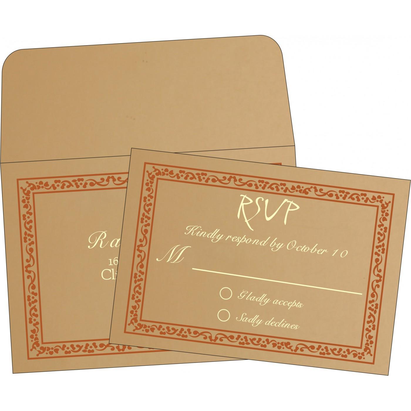 RSVP Cards : CRSVP-8214E - IndianWeddingCards