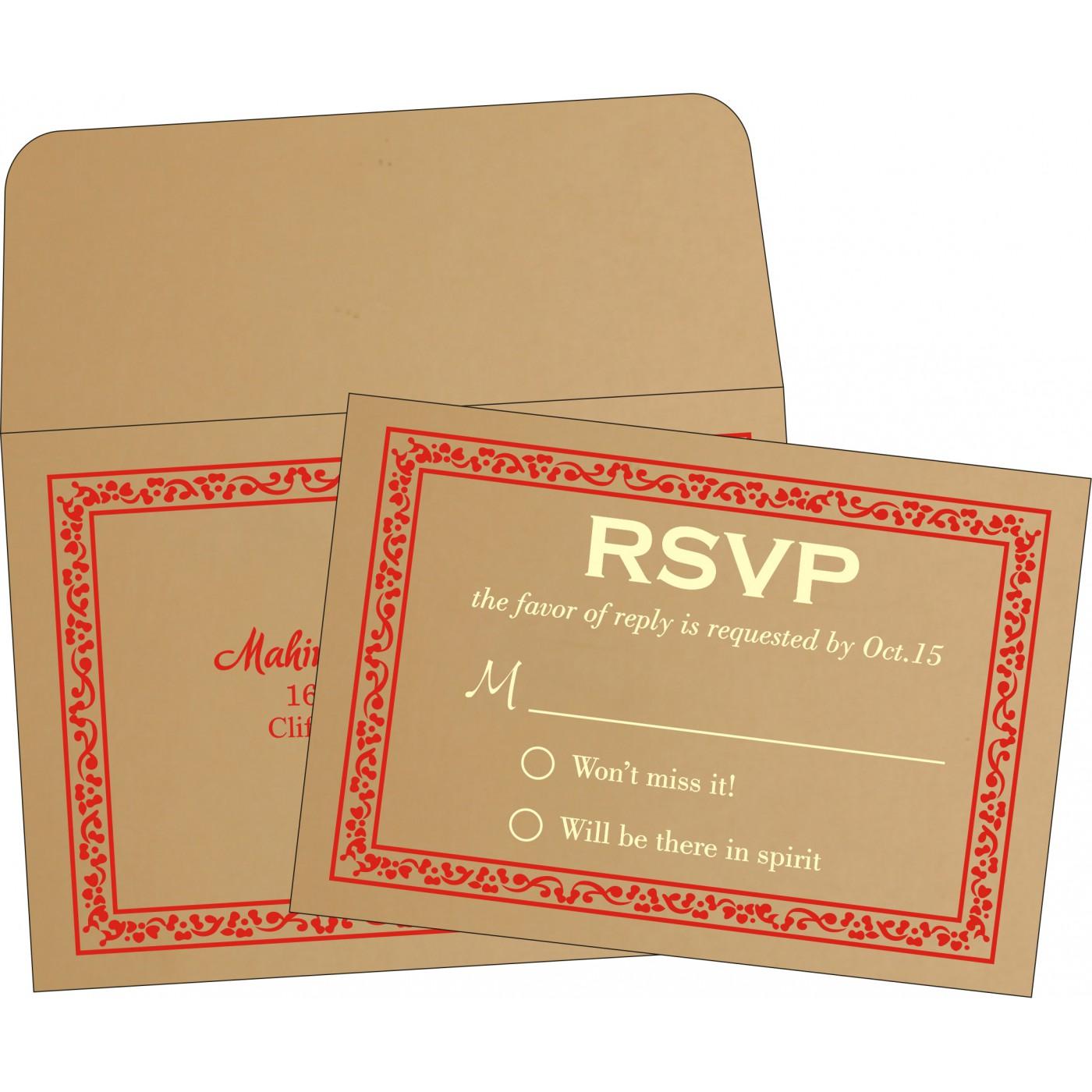 RSVP Cards : CRSVP-8214F - IndianWeddingCards