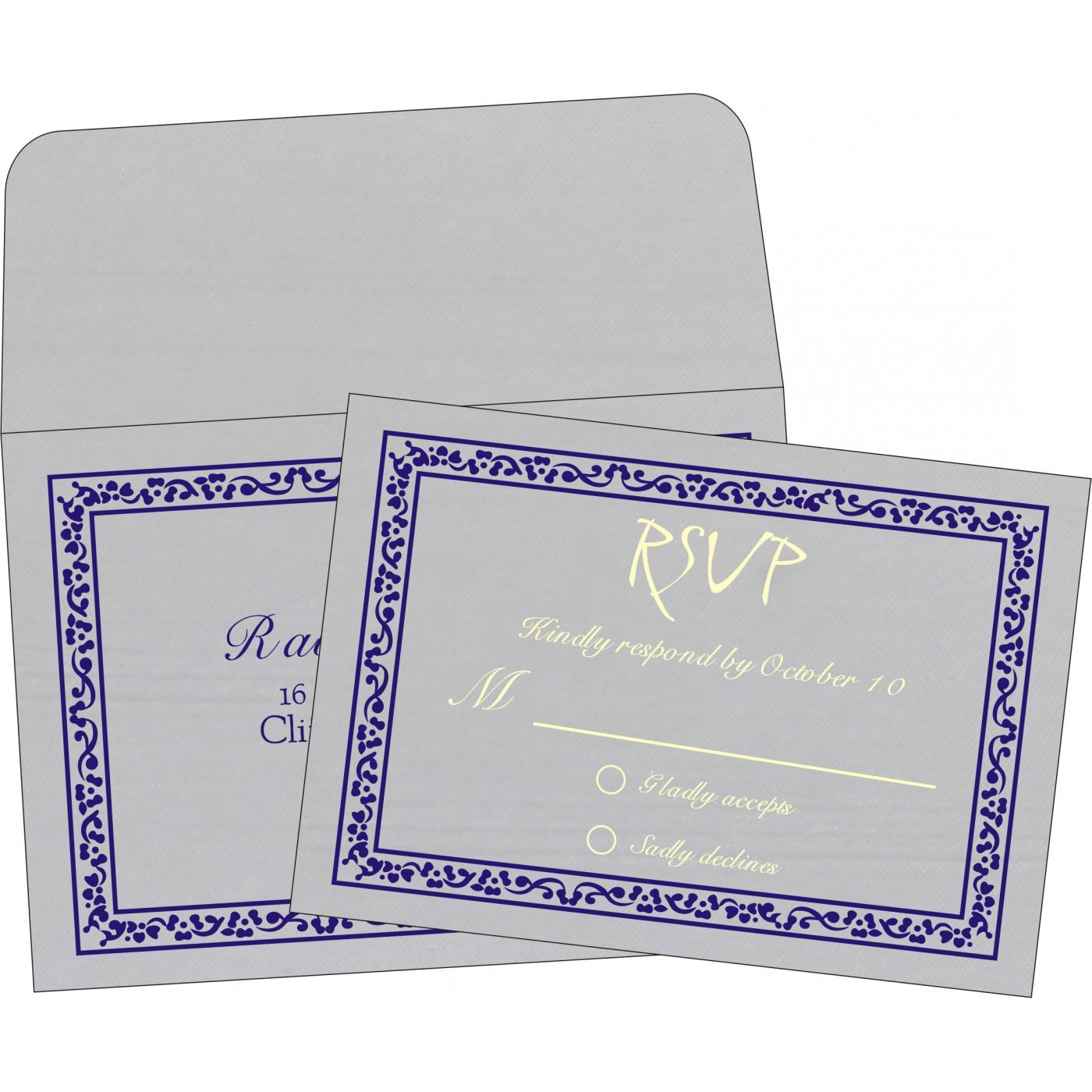 RSVP Cards : CRSVP-8214J - IndianWeddingCards