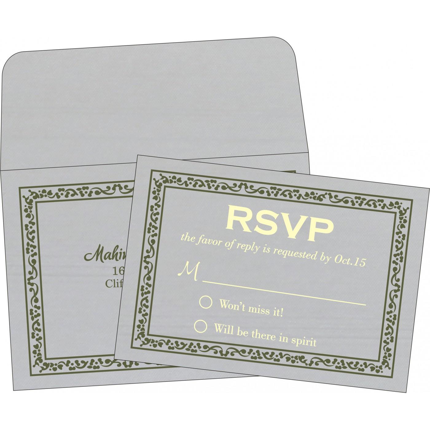 RSVP Cards : CRSVP-8214L - IndianWeddingCards