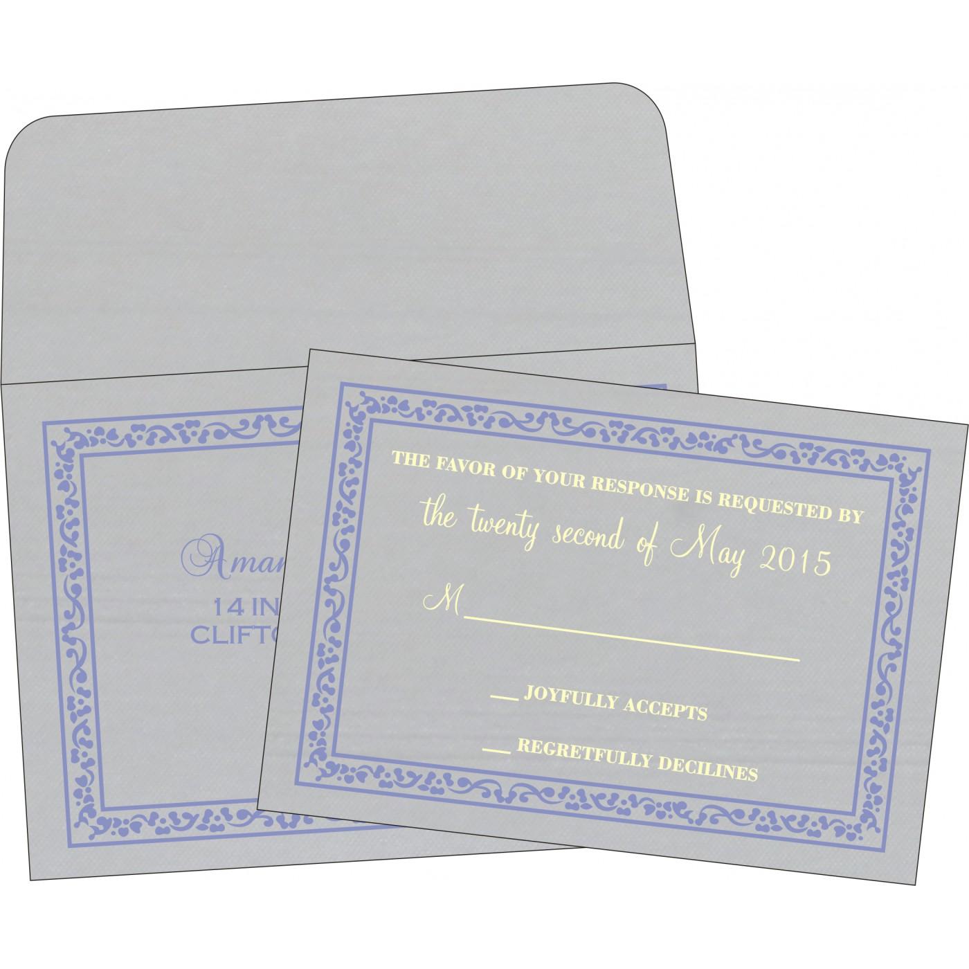 RSVP Cards : CRSVP-8214O - IndianWeddingCards