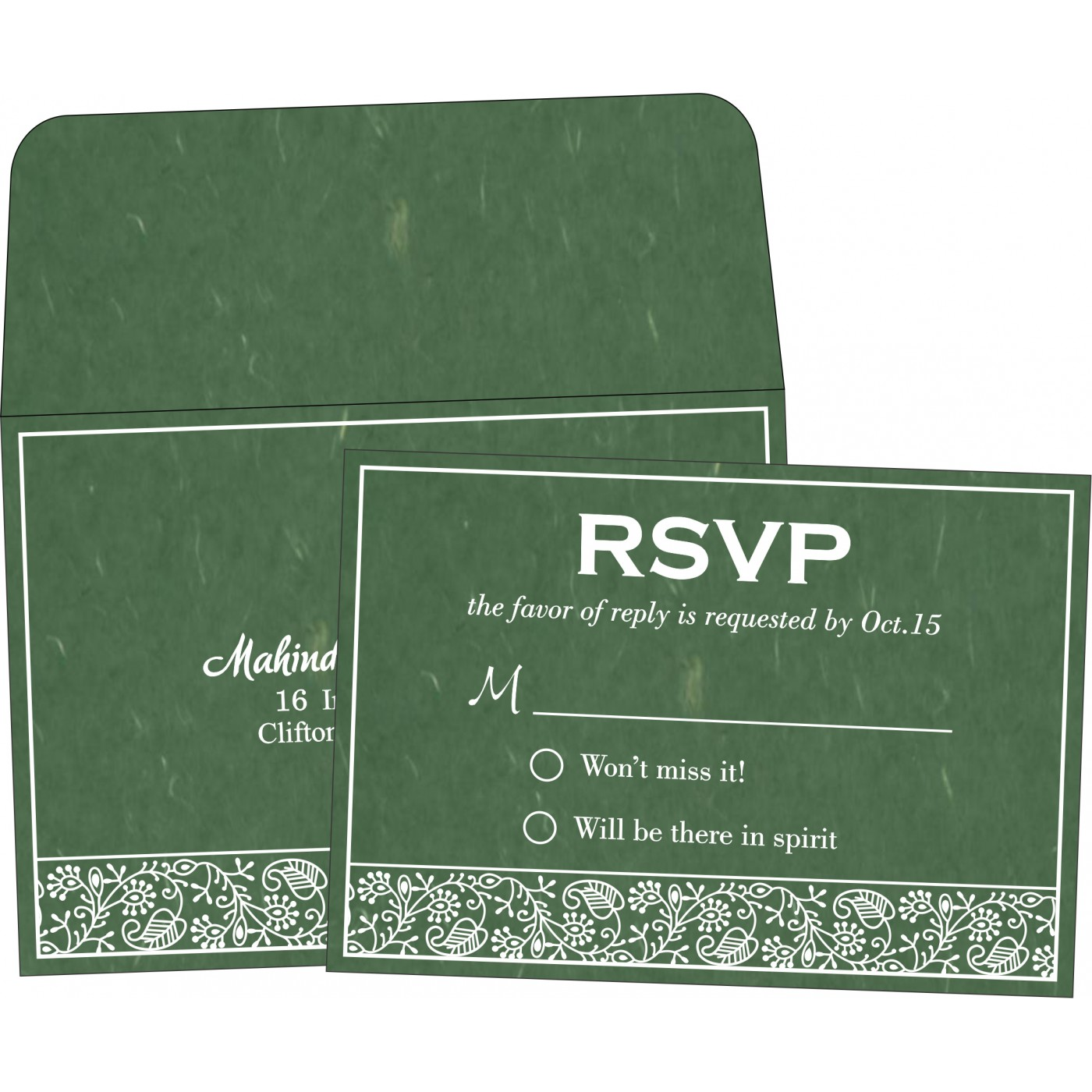 RSVP Cards : CRSVP-8215E - IndianWeddingCards