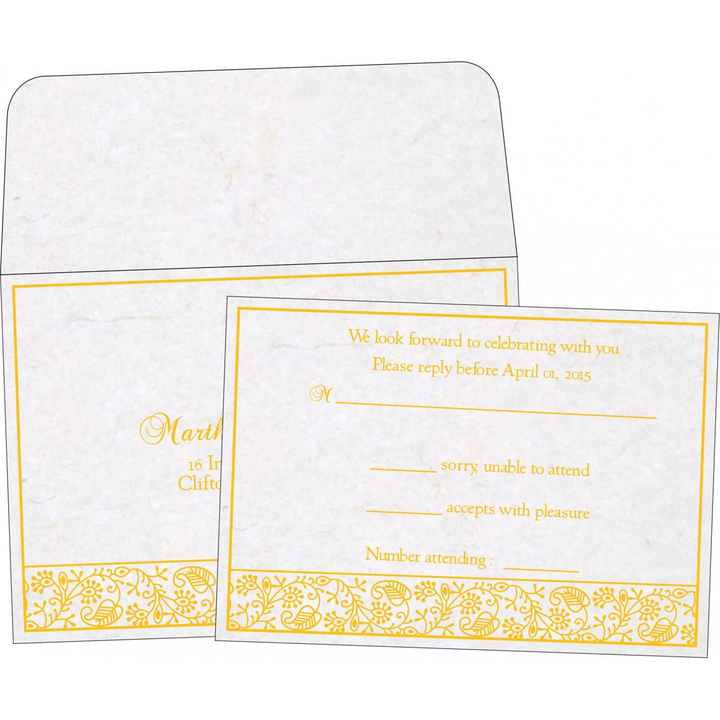 RSVP Cards : CRSVP-8215H - IndianWeddingCards