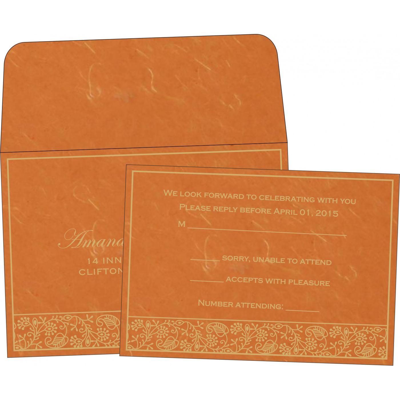 RSVP Cards : CRSVP-8215L - IndianWeddingCards