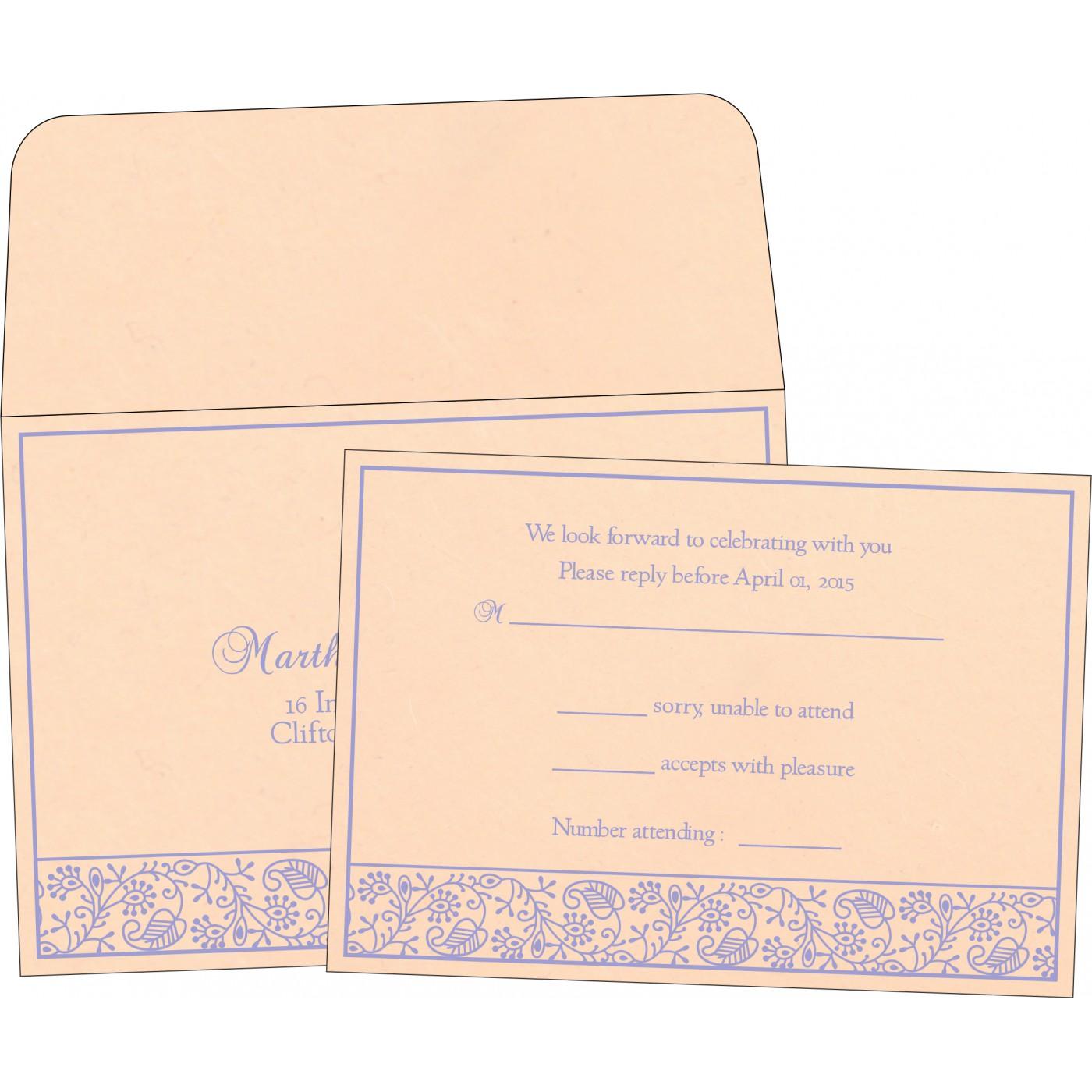 RSVP Cards : CRSVP-8215M - IndianWeddingCards