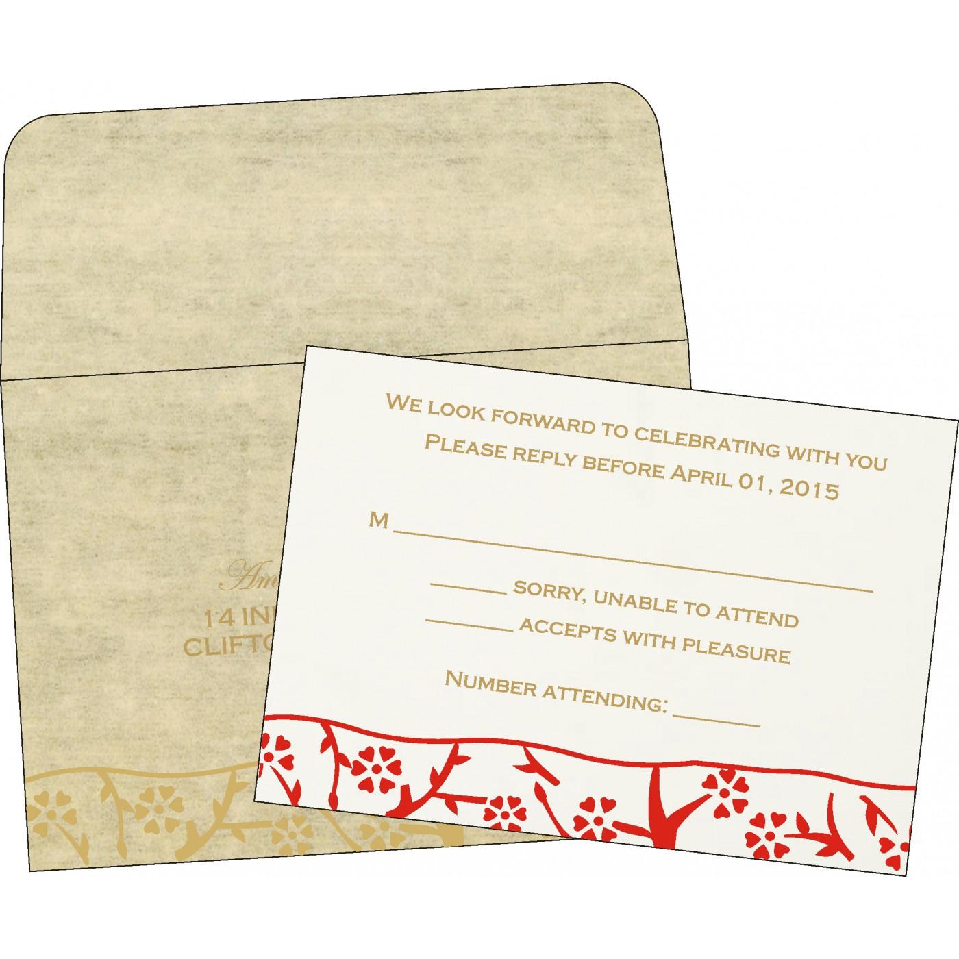 RSVP Cards : CRSVP-8216A - IndianWeddingCards
