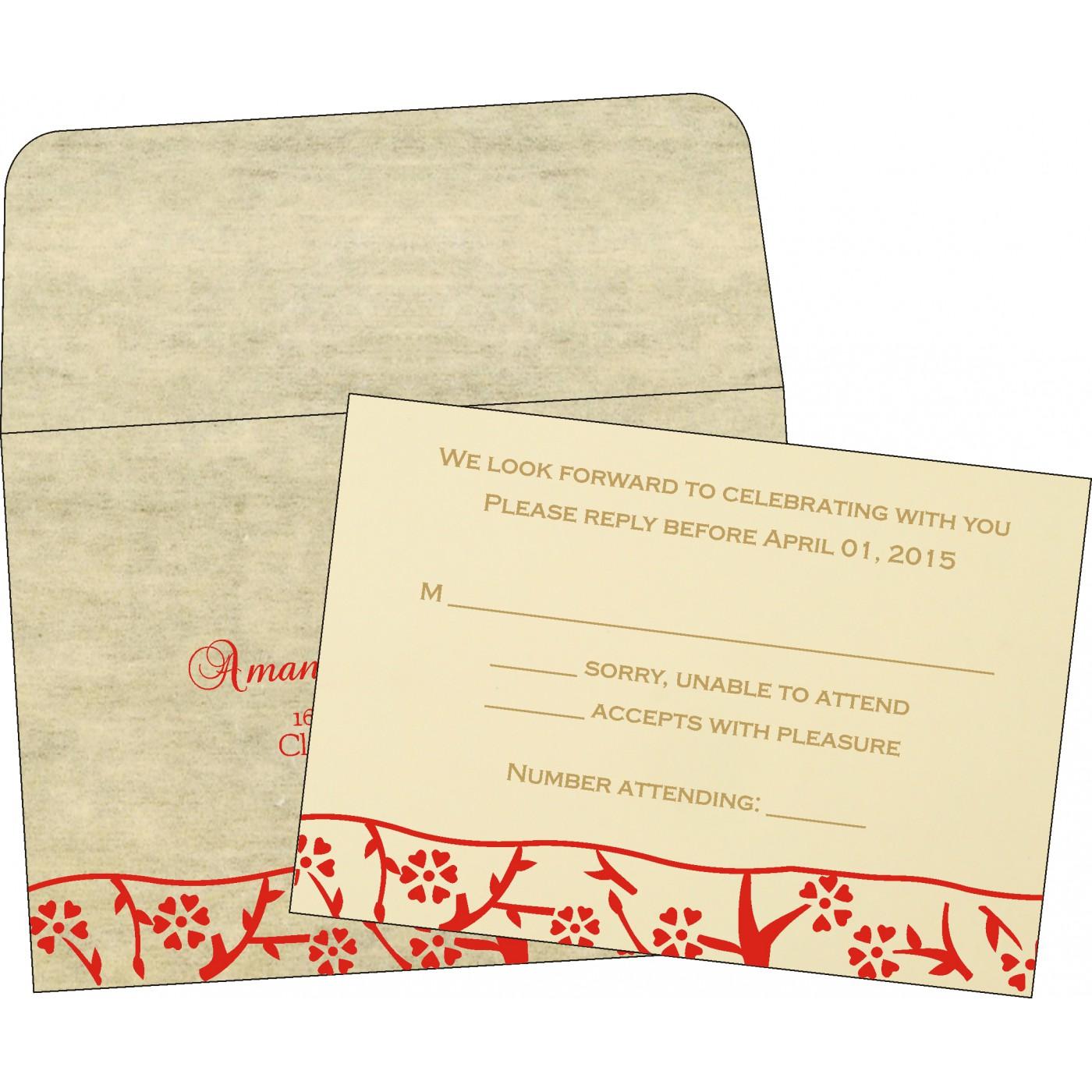 RSVP Cards : CRSVP-8216C - IndianWeddingCards