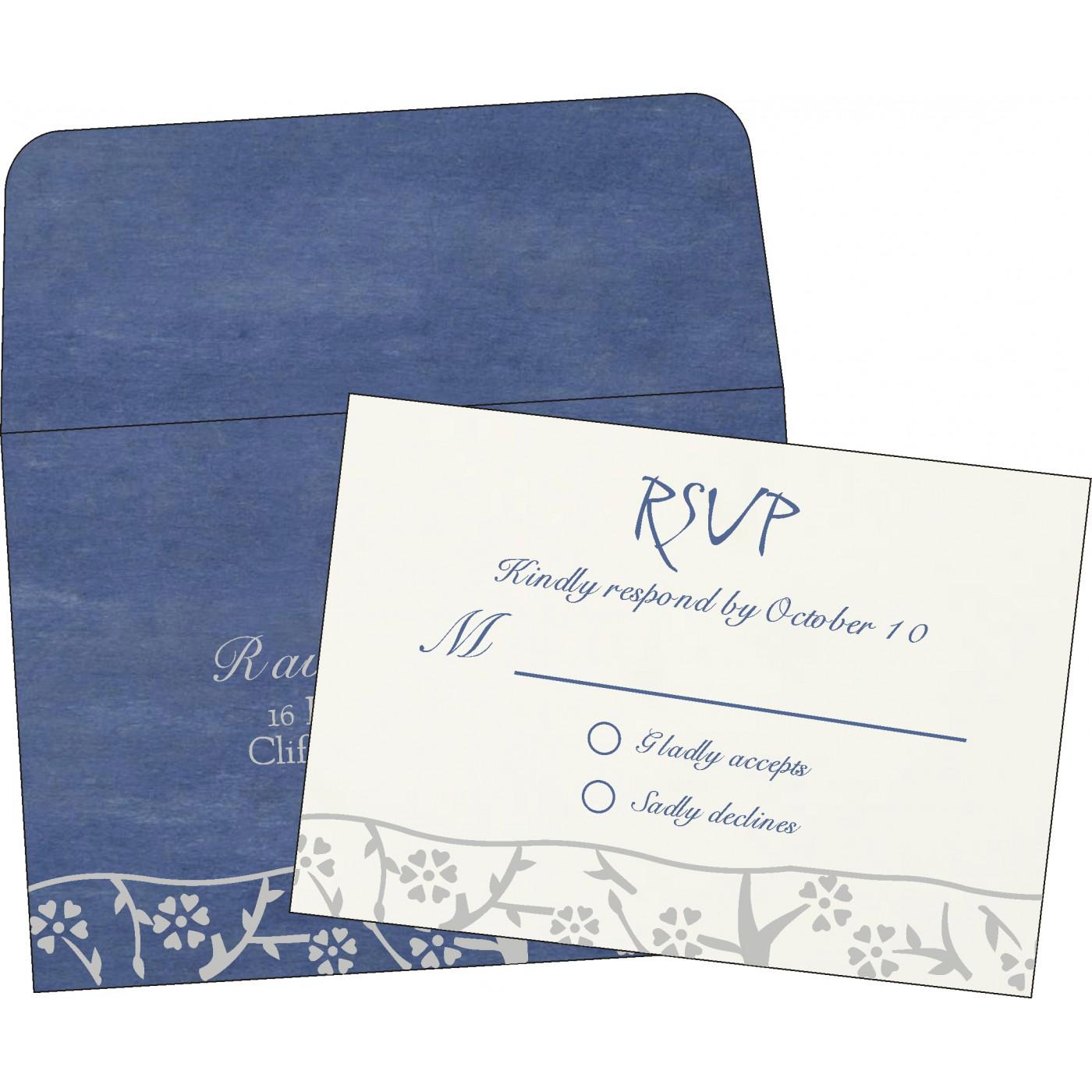 RSVP Cards : CRSVP-8216D - IndianWeddingCards