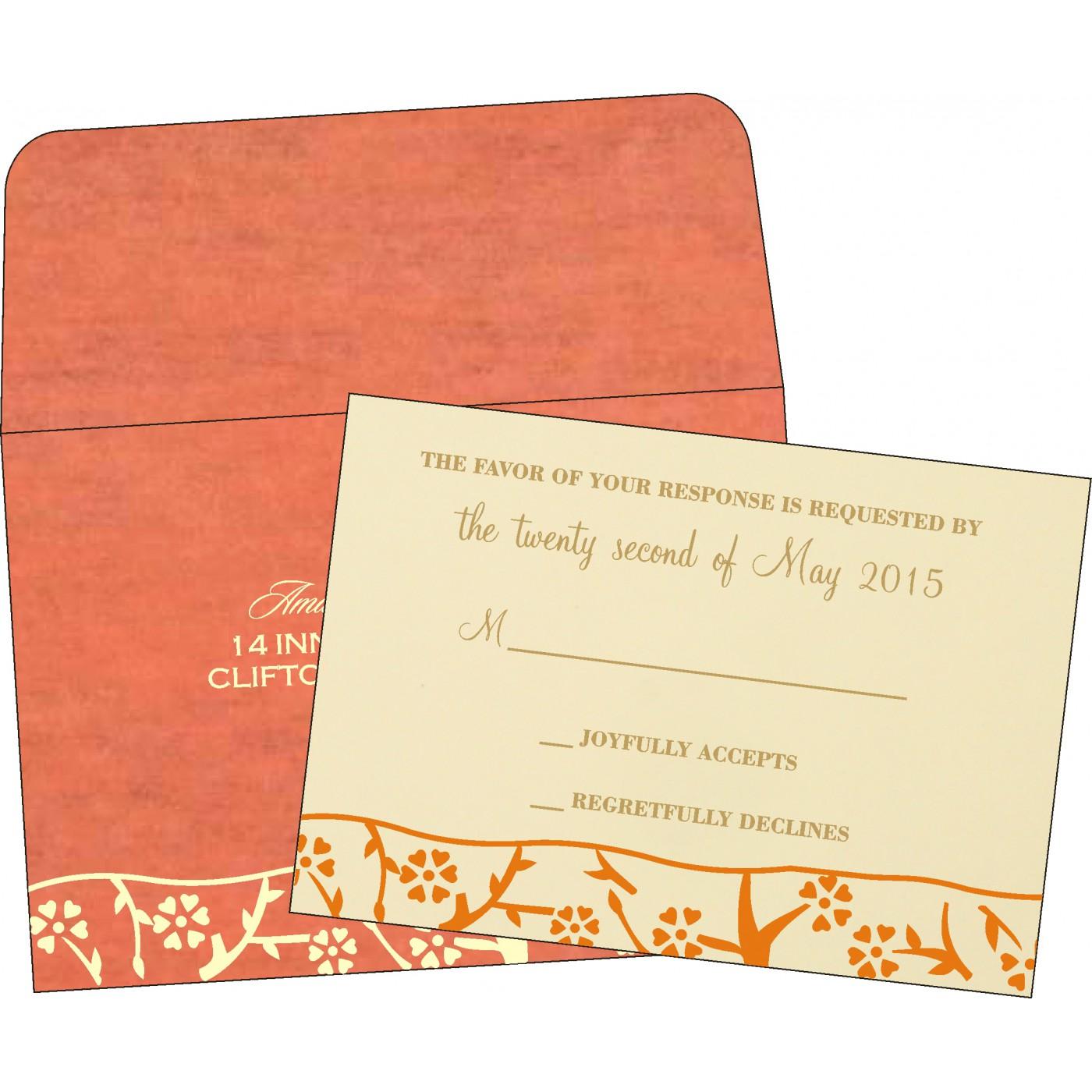 RSVP Cards : CRSVP-8216G - IndianWeddingCards