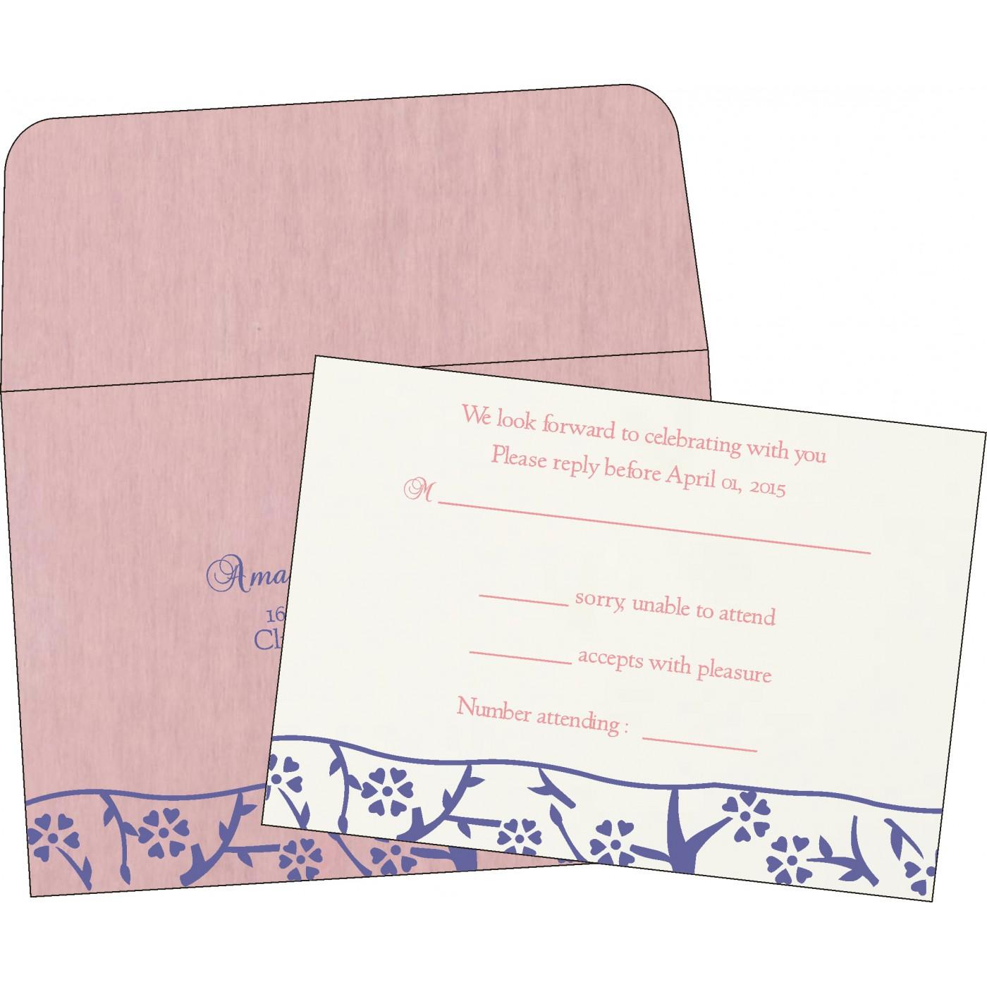 RSVP Cards : CRSVP-8216I - IndianWeddingCards