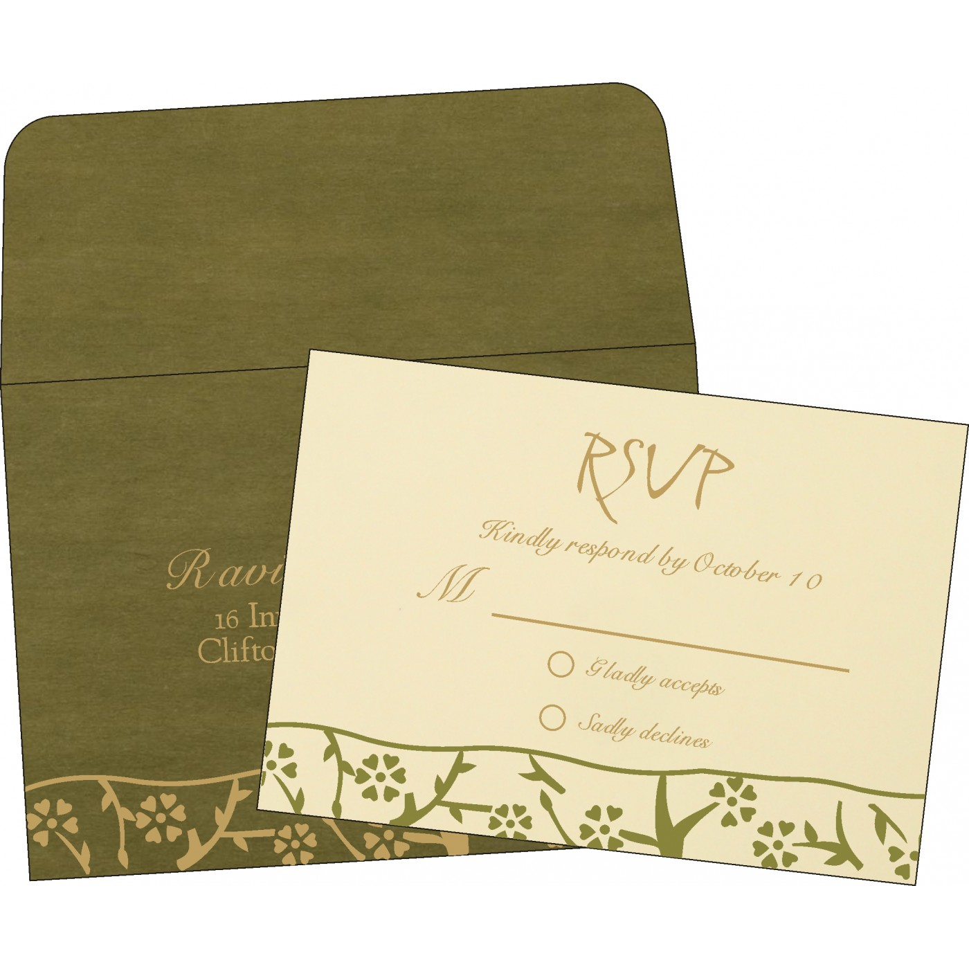 RSVP Cards : CRSVP-8216J - IndianWeddingCards